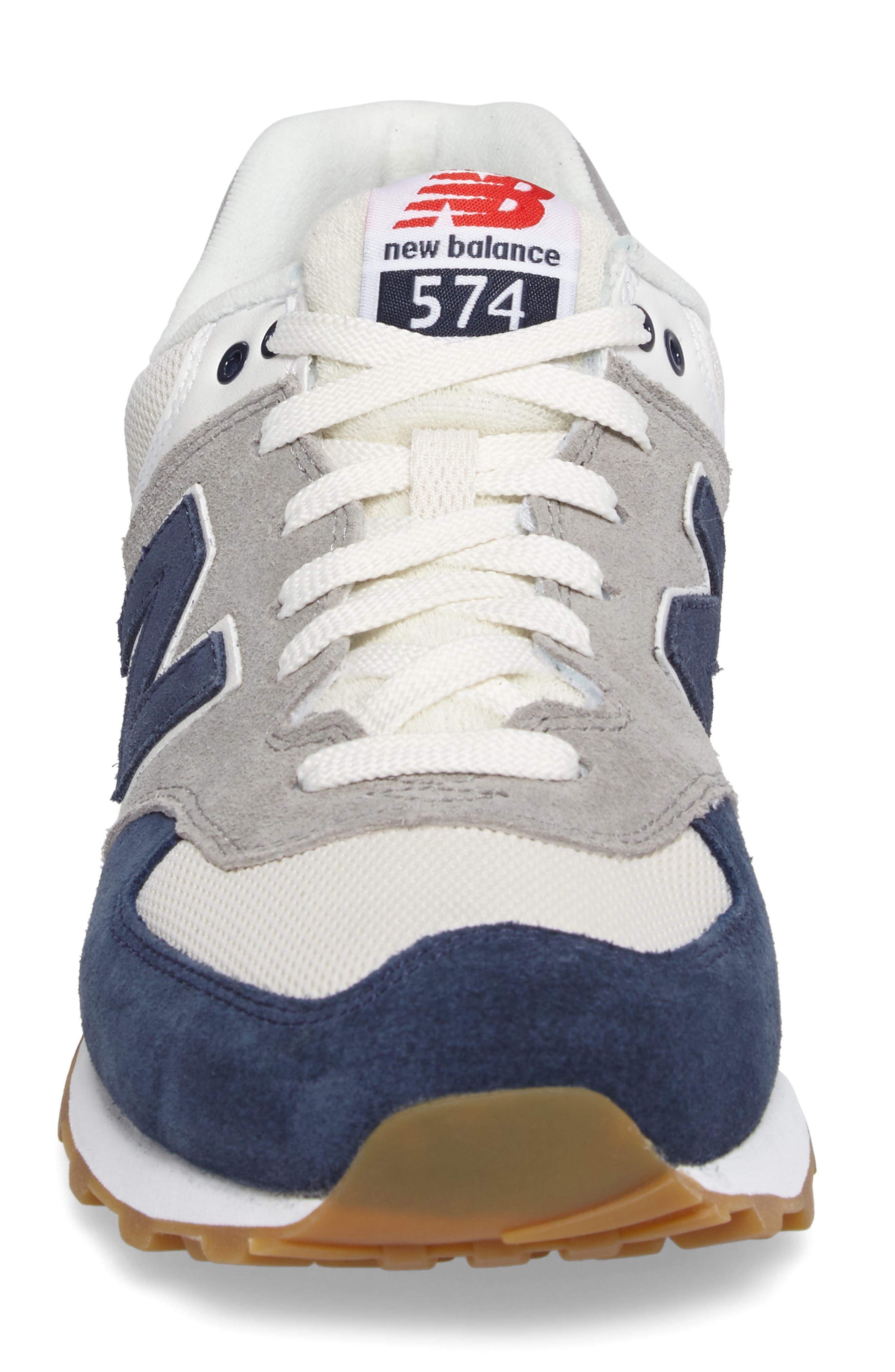574 Retro Sport Sneaker,                             Alternate thumbnail 4, color,                             Electric Blue