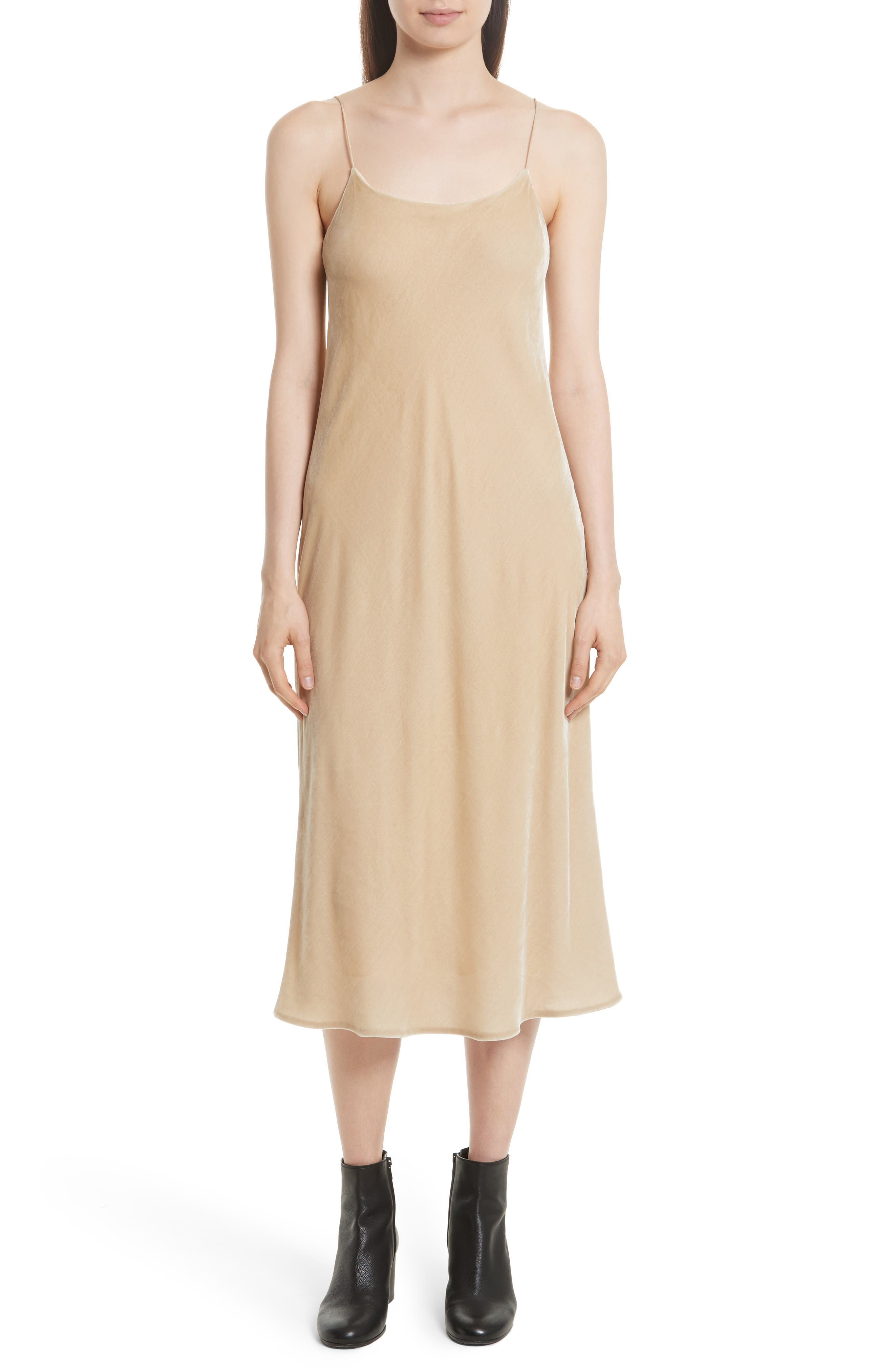 Alternate Image 1 Selected - Vince Velvet Midi Slipdress