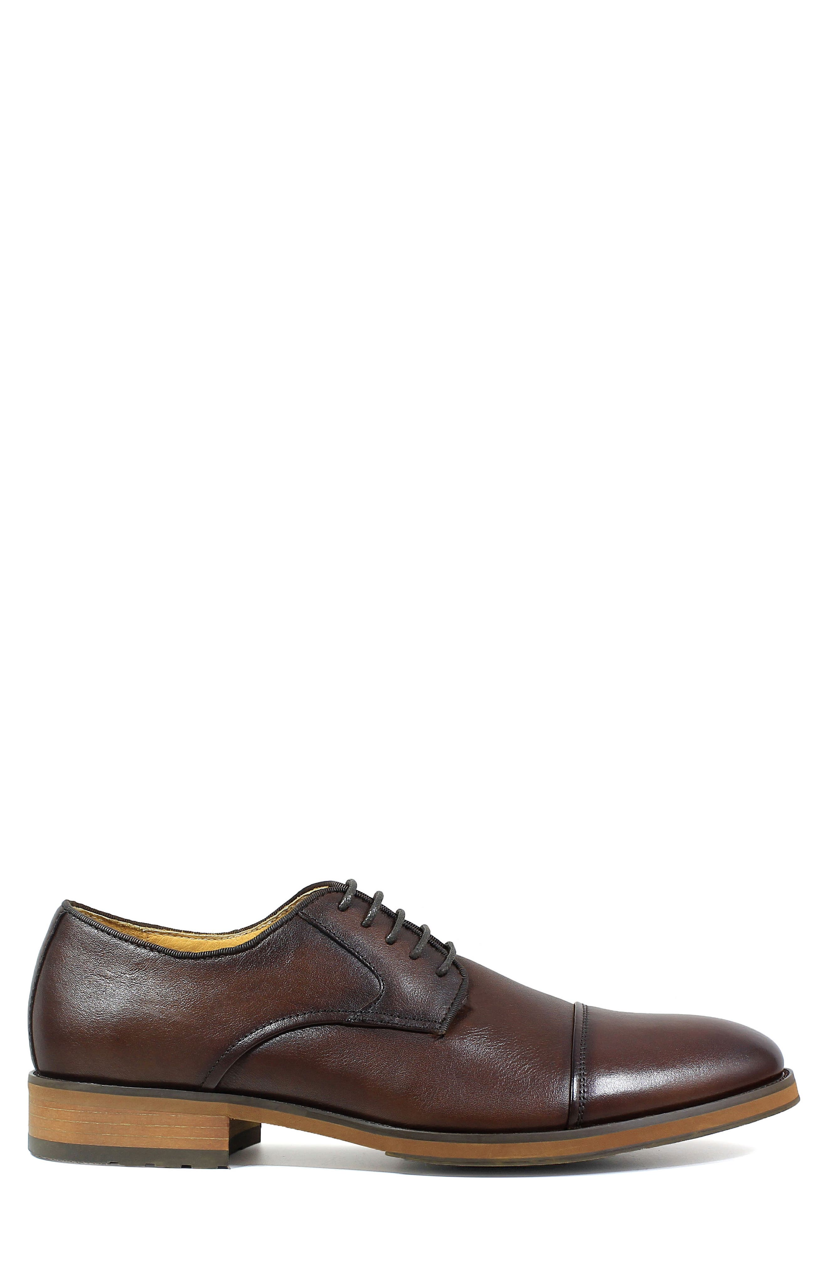 Blaze Cap Toe Derby,                             Alternate thumbnail 3, color,                             Cognac Leather