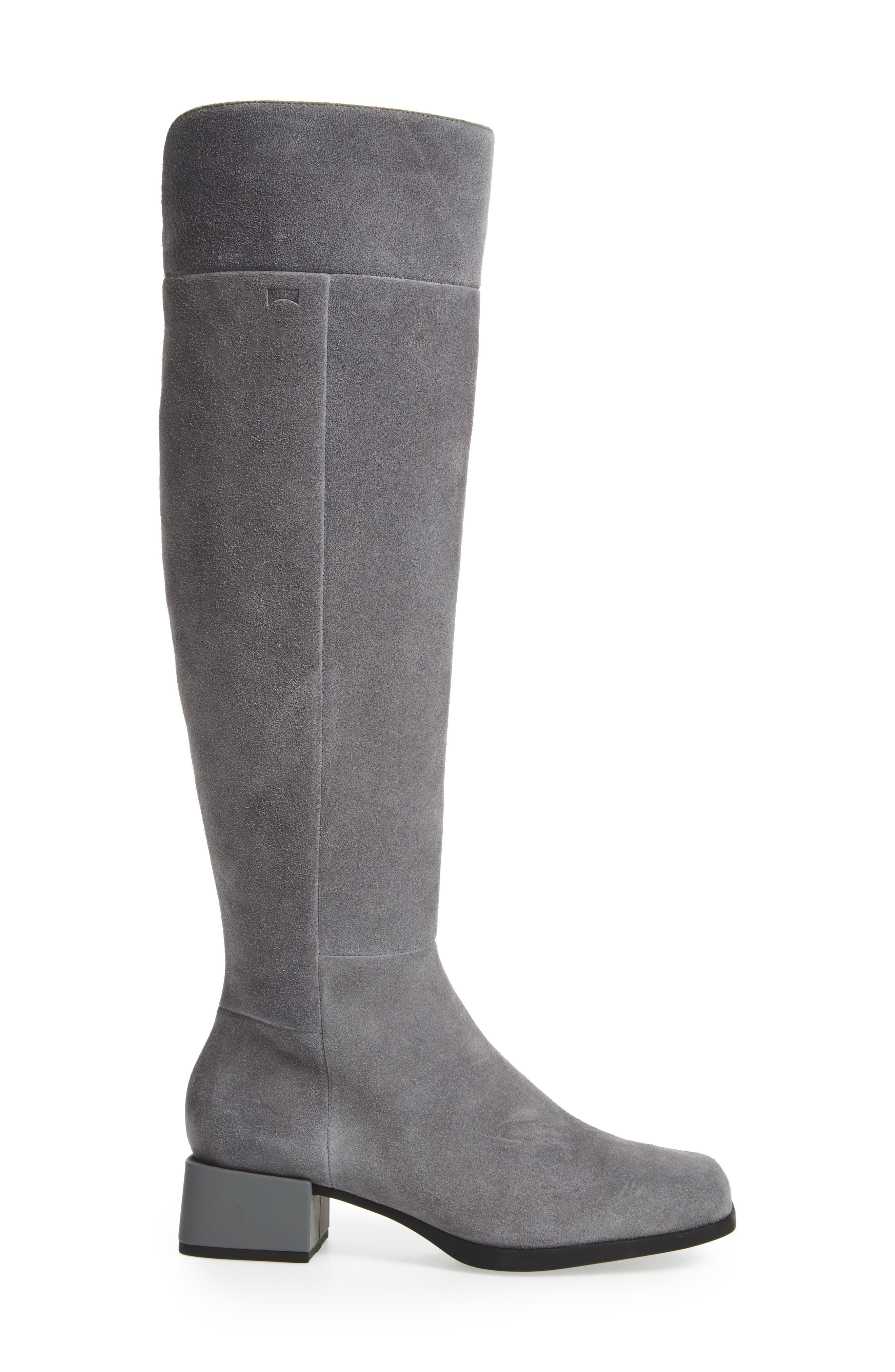 Kobo Knee High Boot,                             Alternate thumbnail 3, color,                             Grey Leather