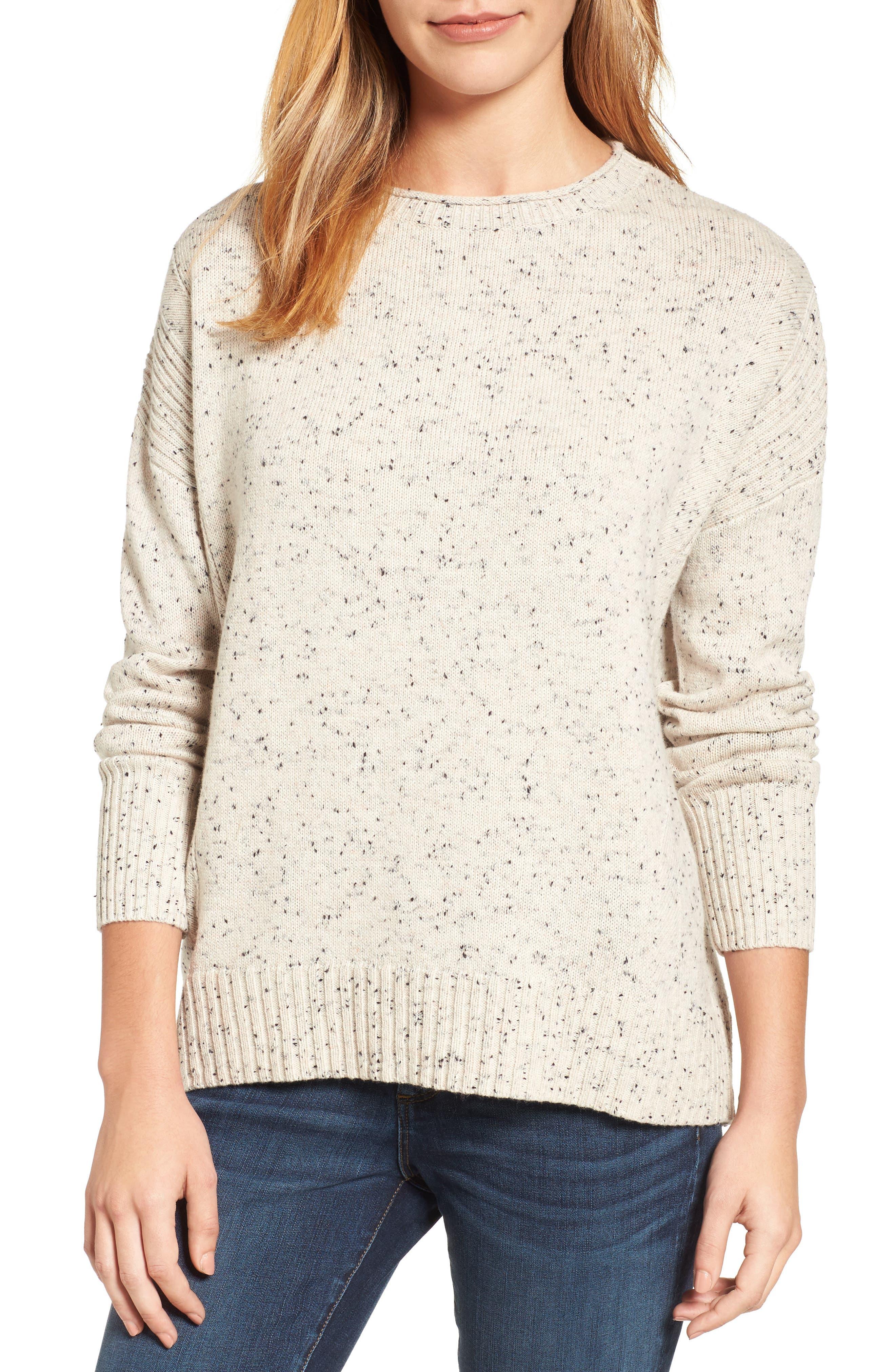 Caslon® Back Zip Pullover
