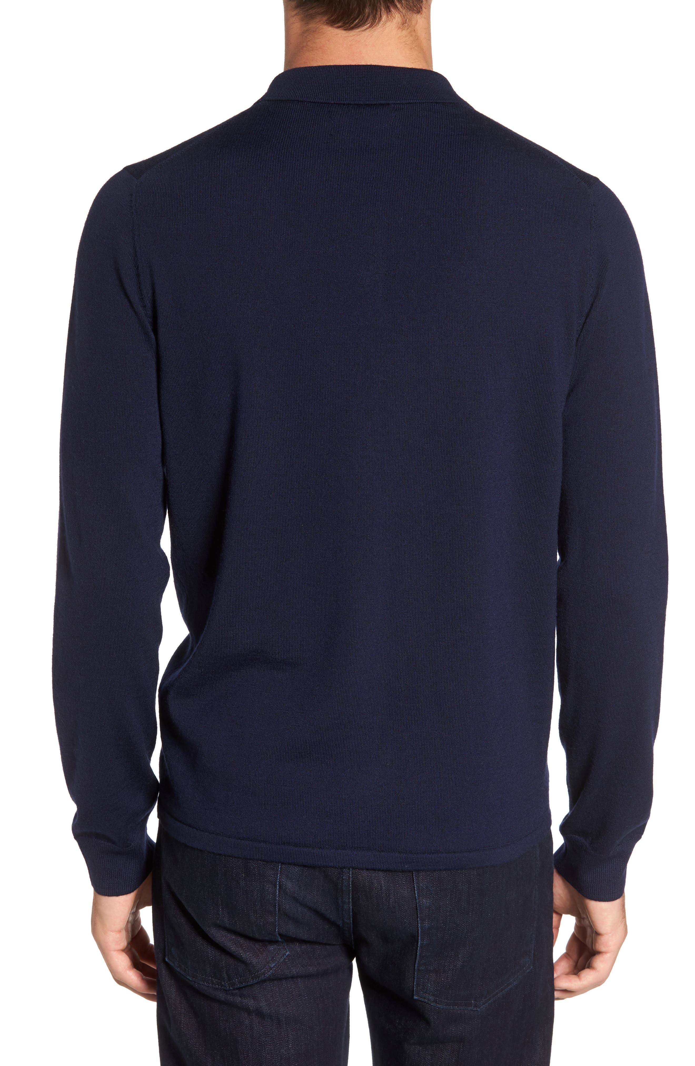 Alternate Image 2  - Nordstrom Men's Shop Merino Wool Polo Sweater
