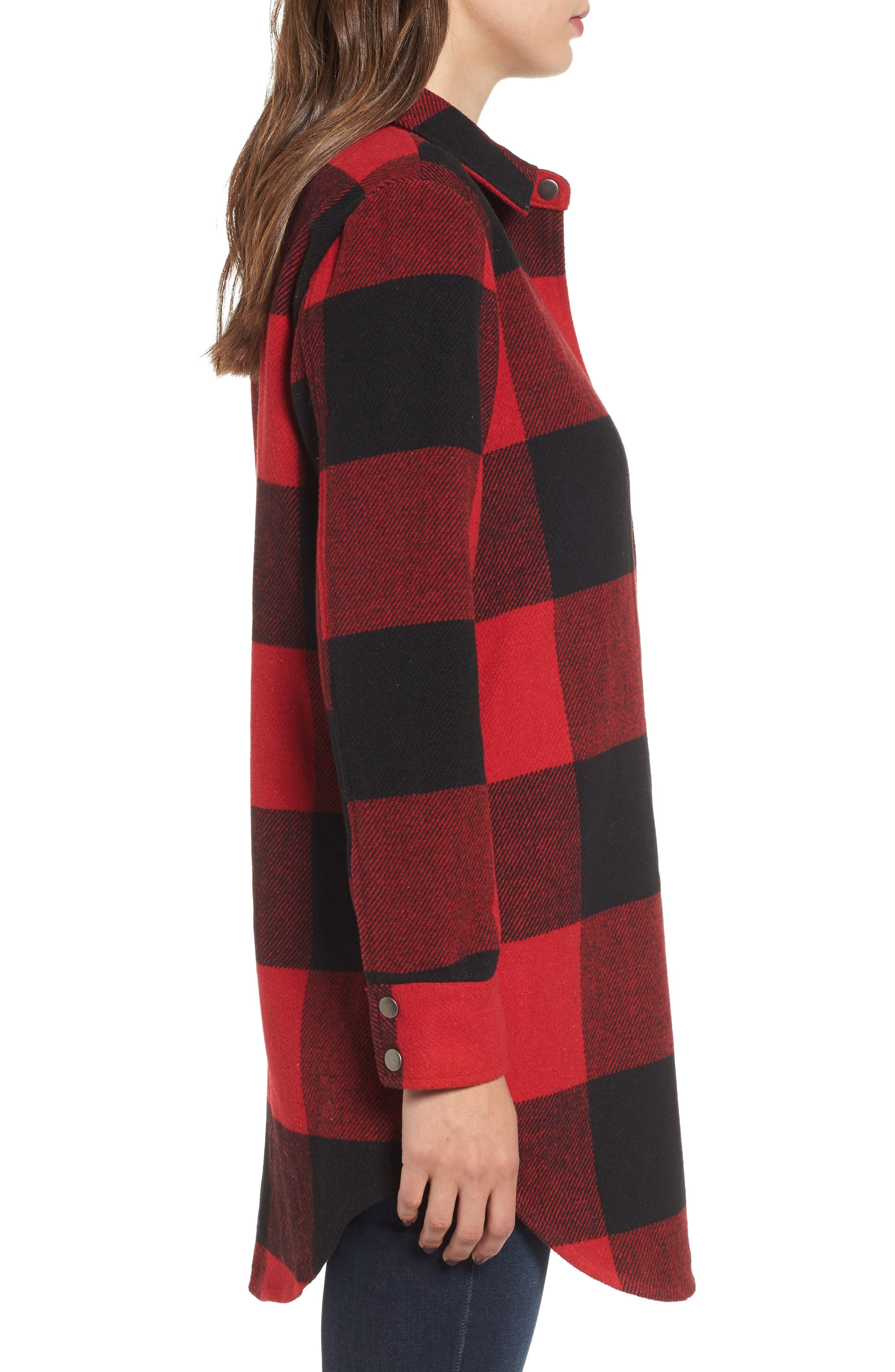 Alternate Image 3  - BB Dakota Eldridge Oversize Buffalo Check Shirt Jacket
