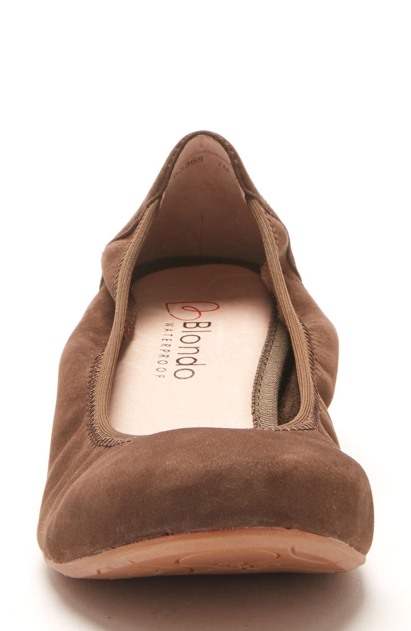 Becca Waterproof Flat,                             Alternate thumbnail 4, color,                             Taupe Nubuck Leather