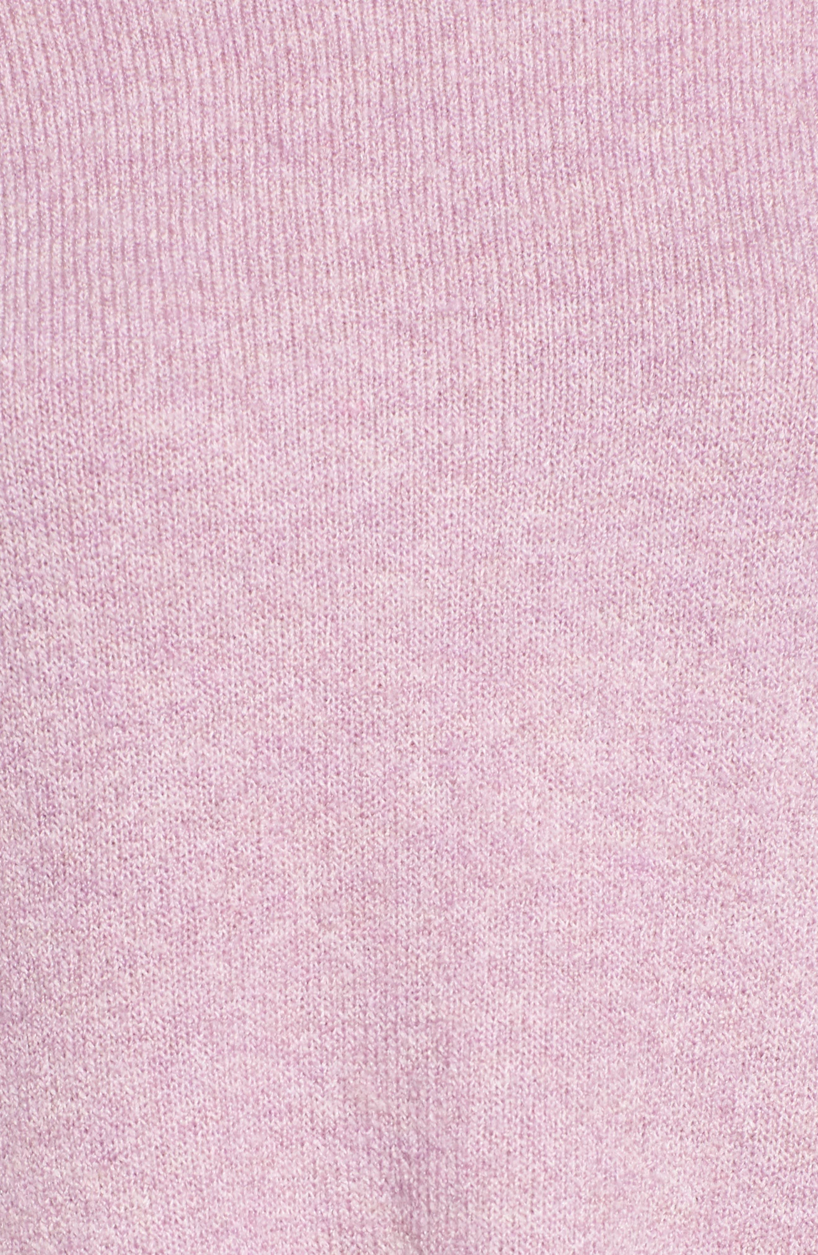 Tie Bell Sleeve Sweater,                             Alternate thumbnail 5, color,                             Purple Mist