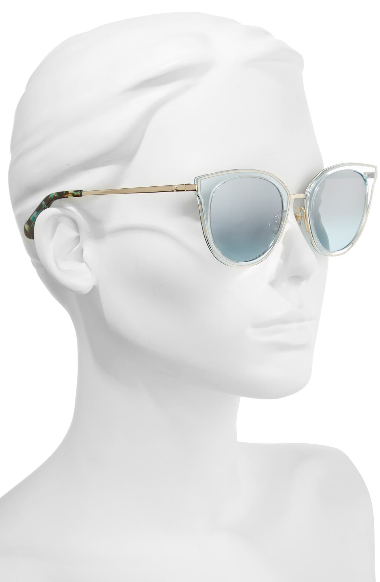 jazzlyn 51mm Cat Eye Sunglasses,                             Alternate thumbnail 2, color,                             Blue/ Gold