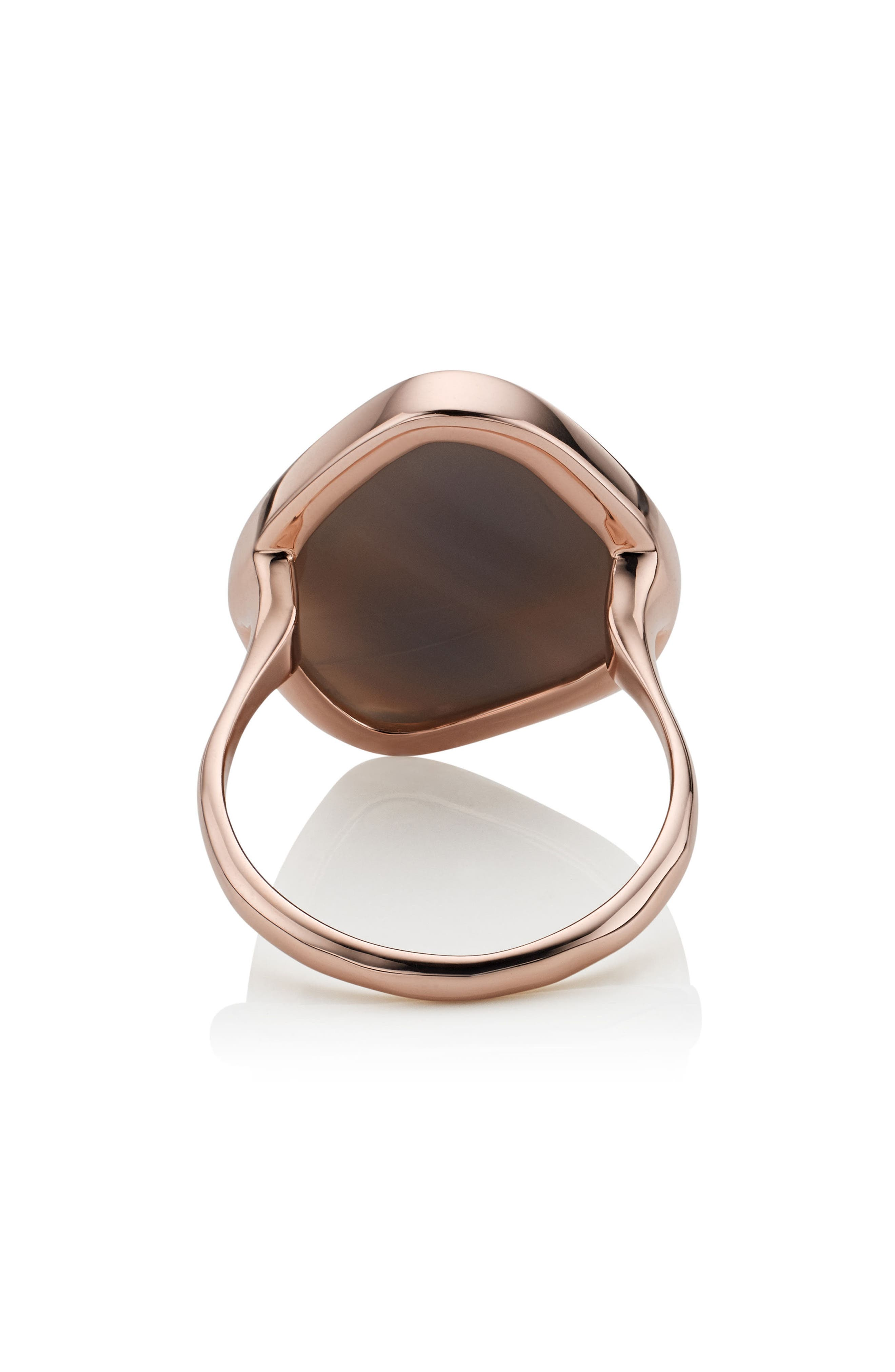 Siren Nugget Semiprecious Stone Ring,                             Alternate thumbnail 4, color,                             Grey Agate/ Rose Gold