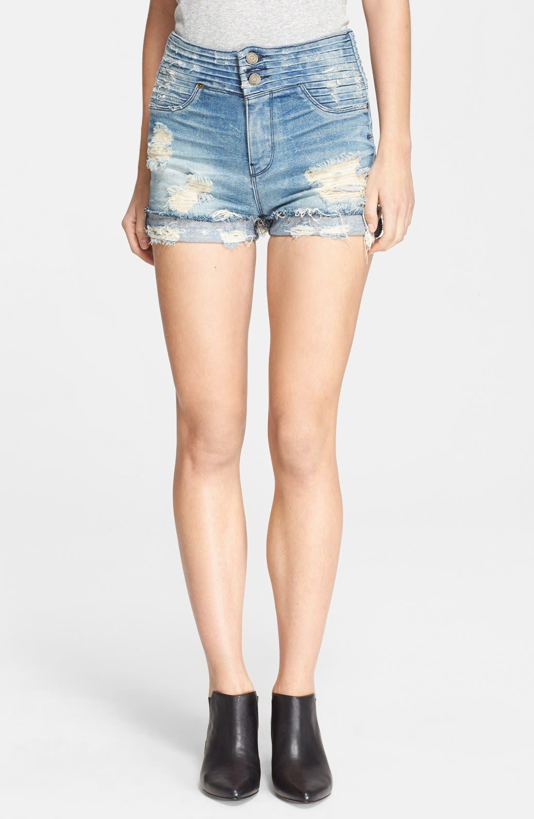 Alternate Image 1 Selected - RtA 'Salvador' Destroyed Jean Shorts