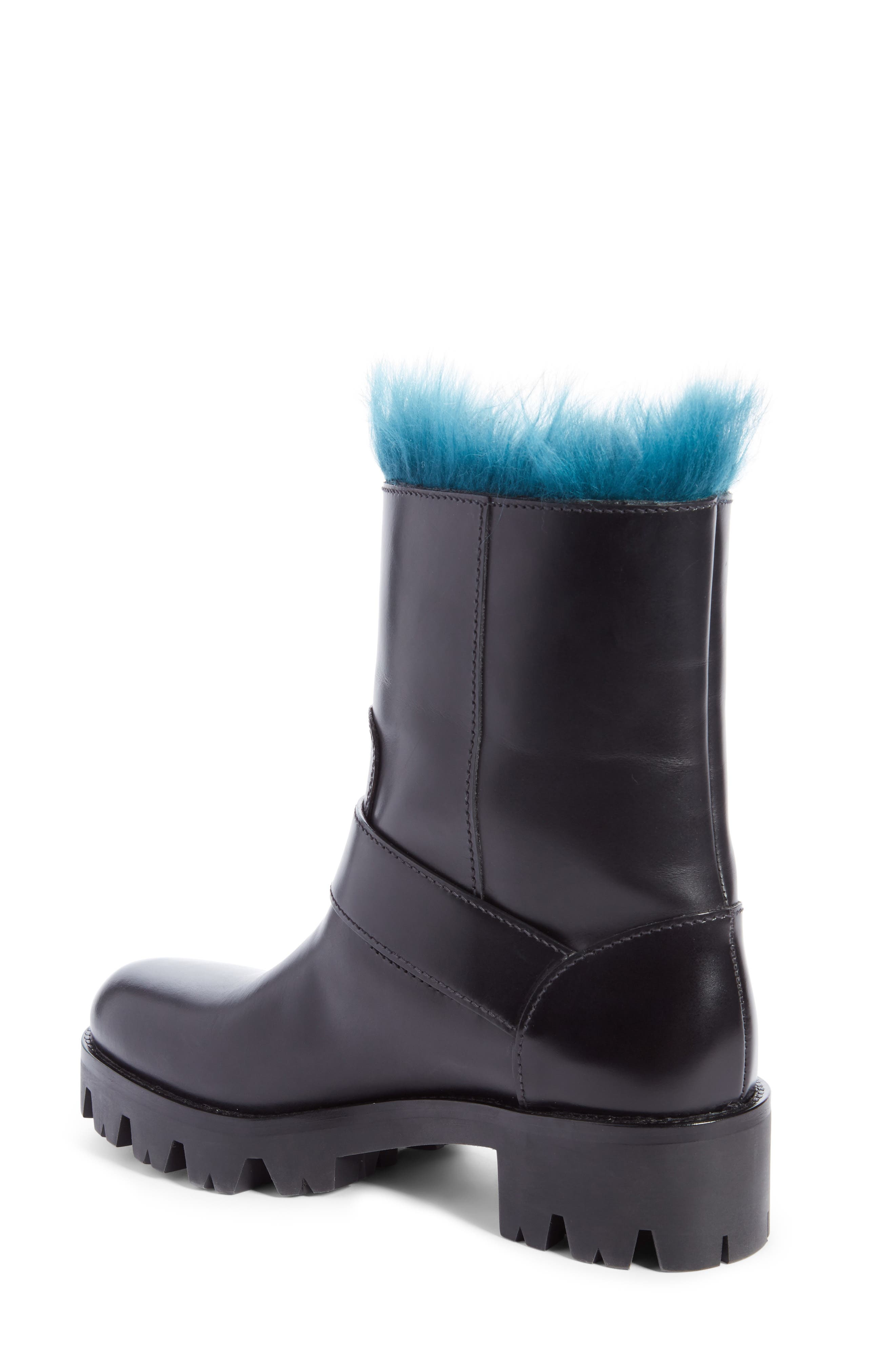 Genuine Shearling Lined Boot,                             Alternate thumbnail 2, color,                             Black