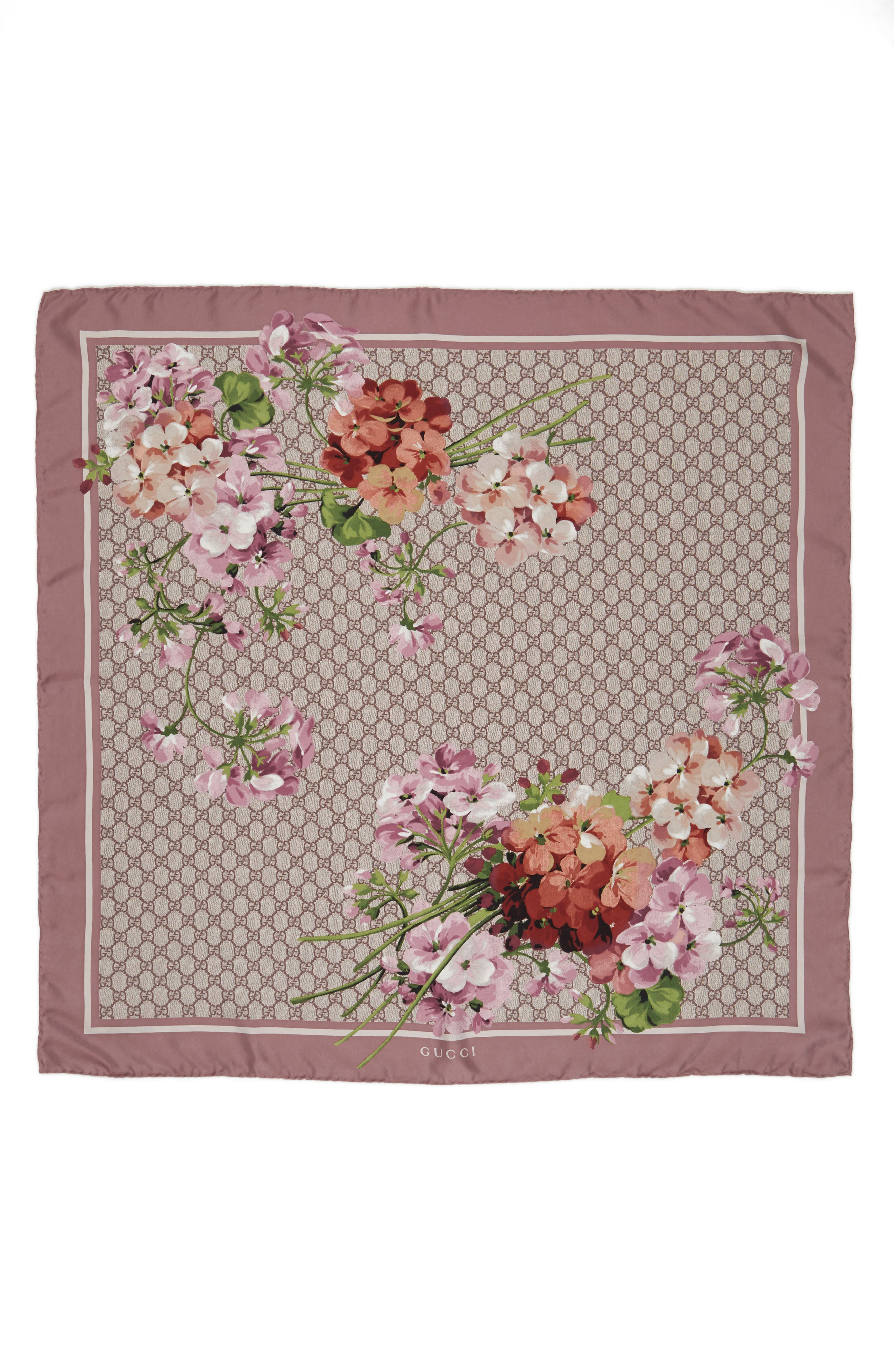 Main Image - Gucci GG Blooms Foulard Scarf