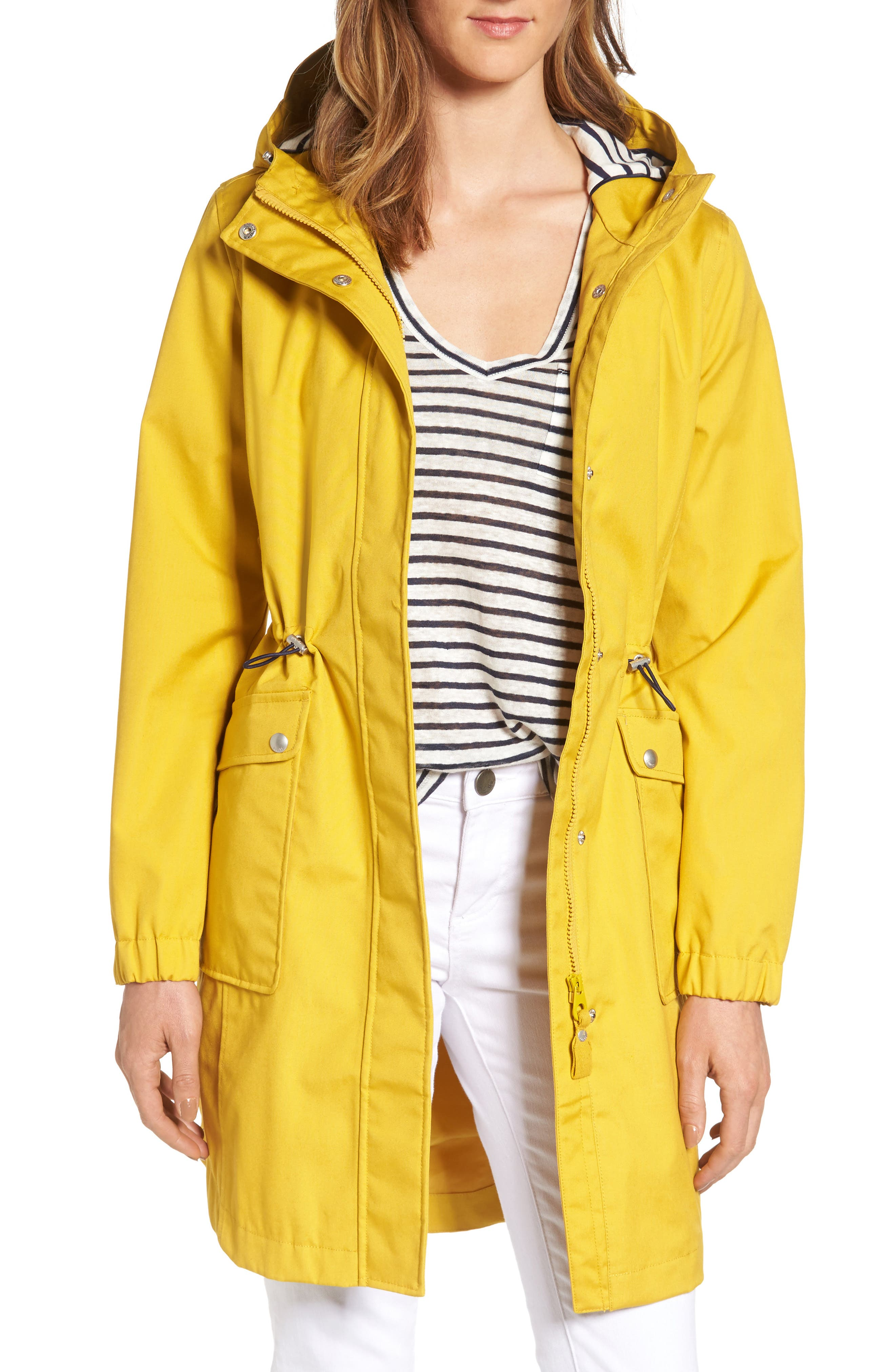 Right as Rain Waterproof Hooded Jacket,                         Main,                         color, Antique Gold