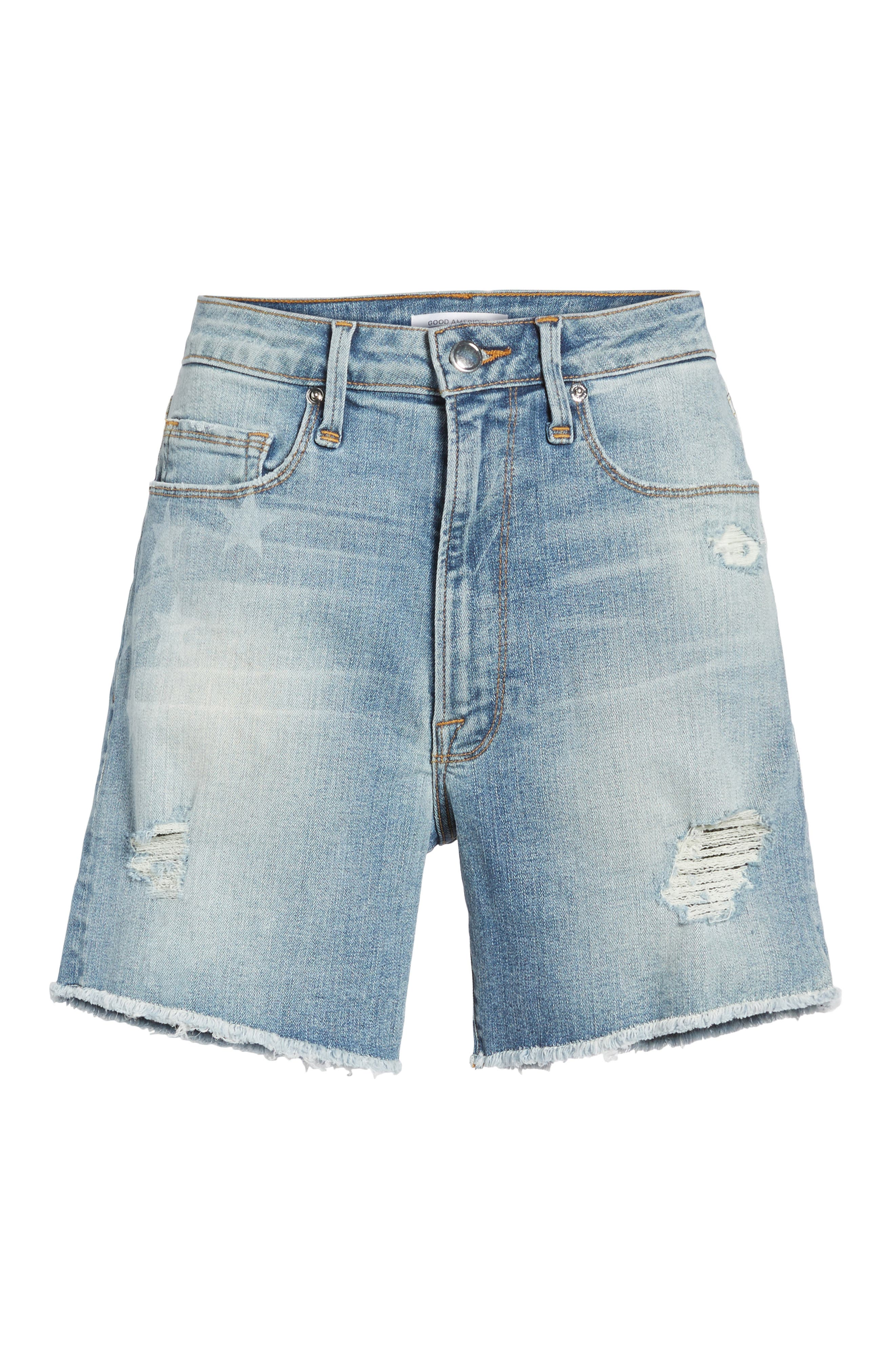 Alternate Image 6  - Good American High Waist Denim Cutoff Shorts (Extended Sizes)