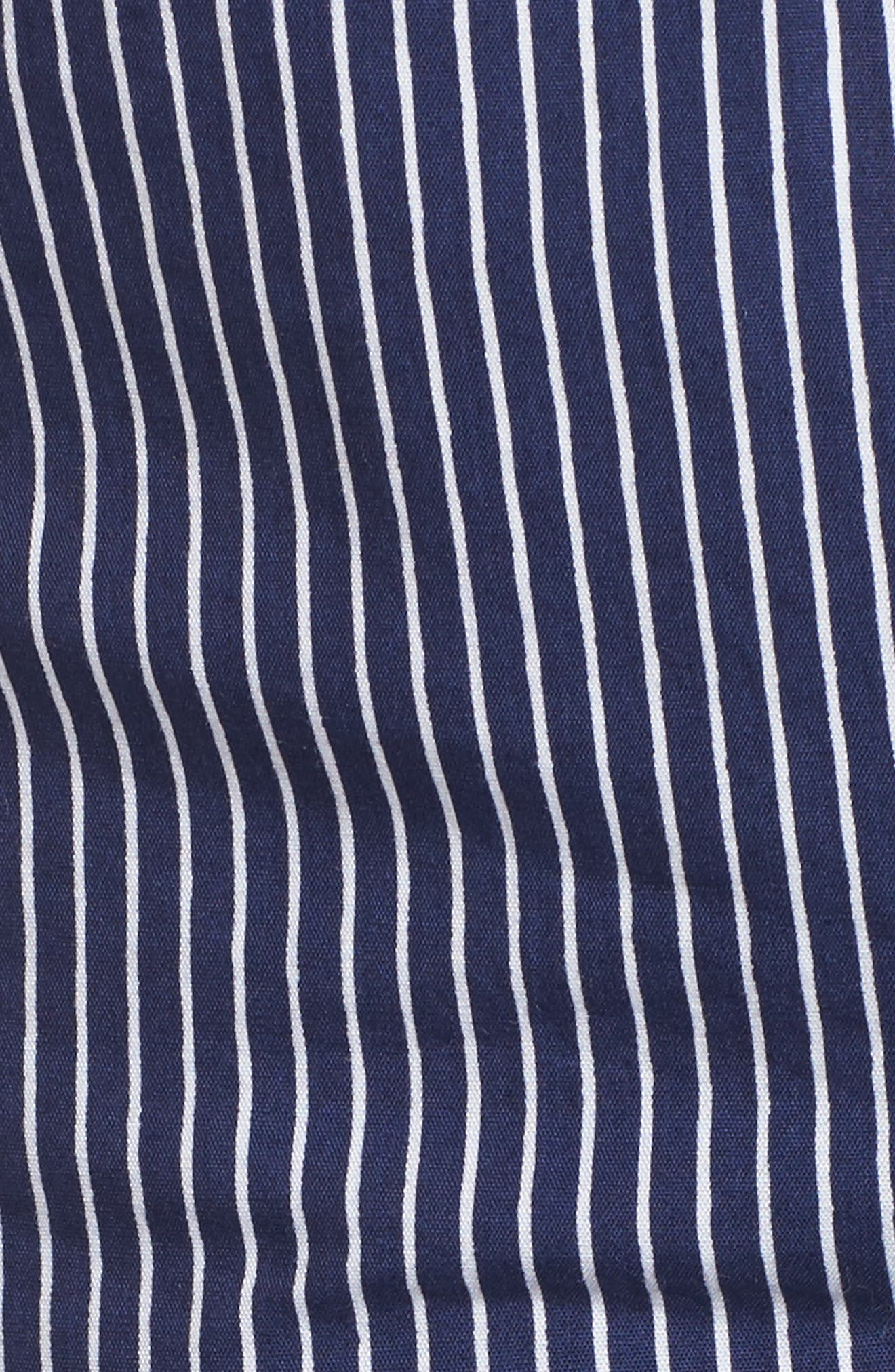 Piña Colada Tie Peplum Camisole,                             Alternate thumbnail 5, color,                             Hudson Stripe Print
