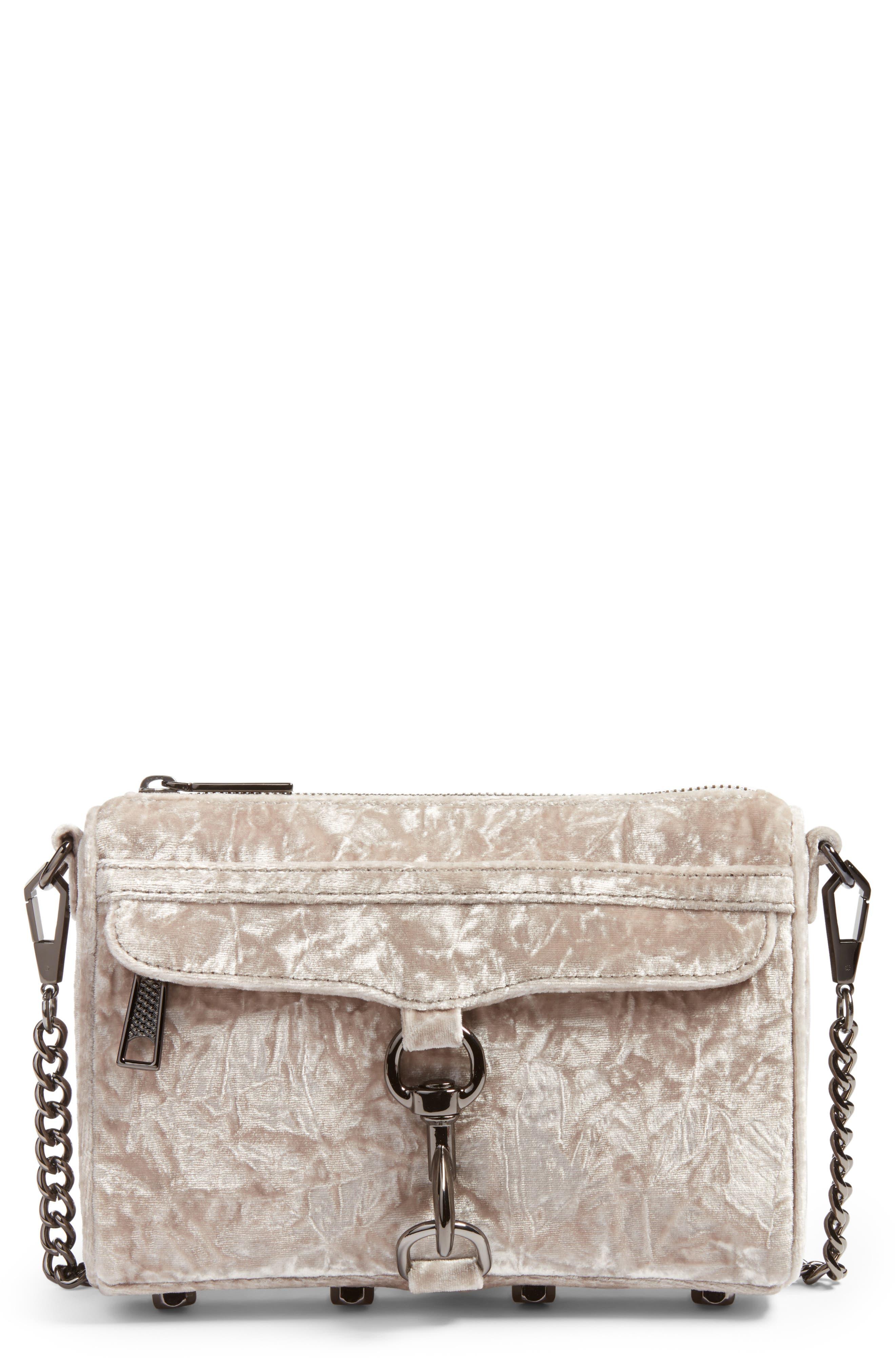 REBECCA MINKOFF Mini MAC Velvet Convertible Crossbody Bag