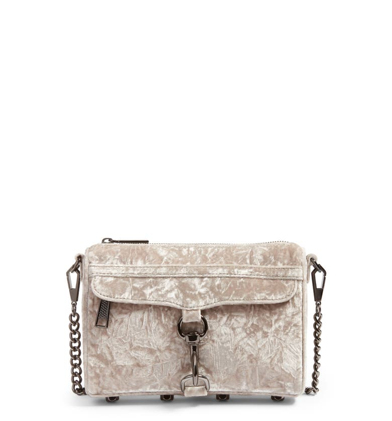 Main Image - Rebecca Minkoff Mini MAC Velvet Convertible Crossbody Bag (Nordstrom Exclusive)