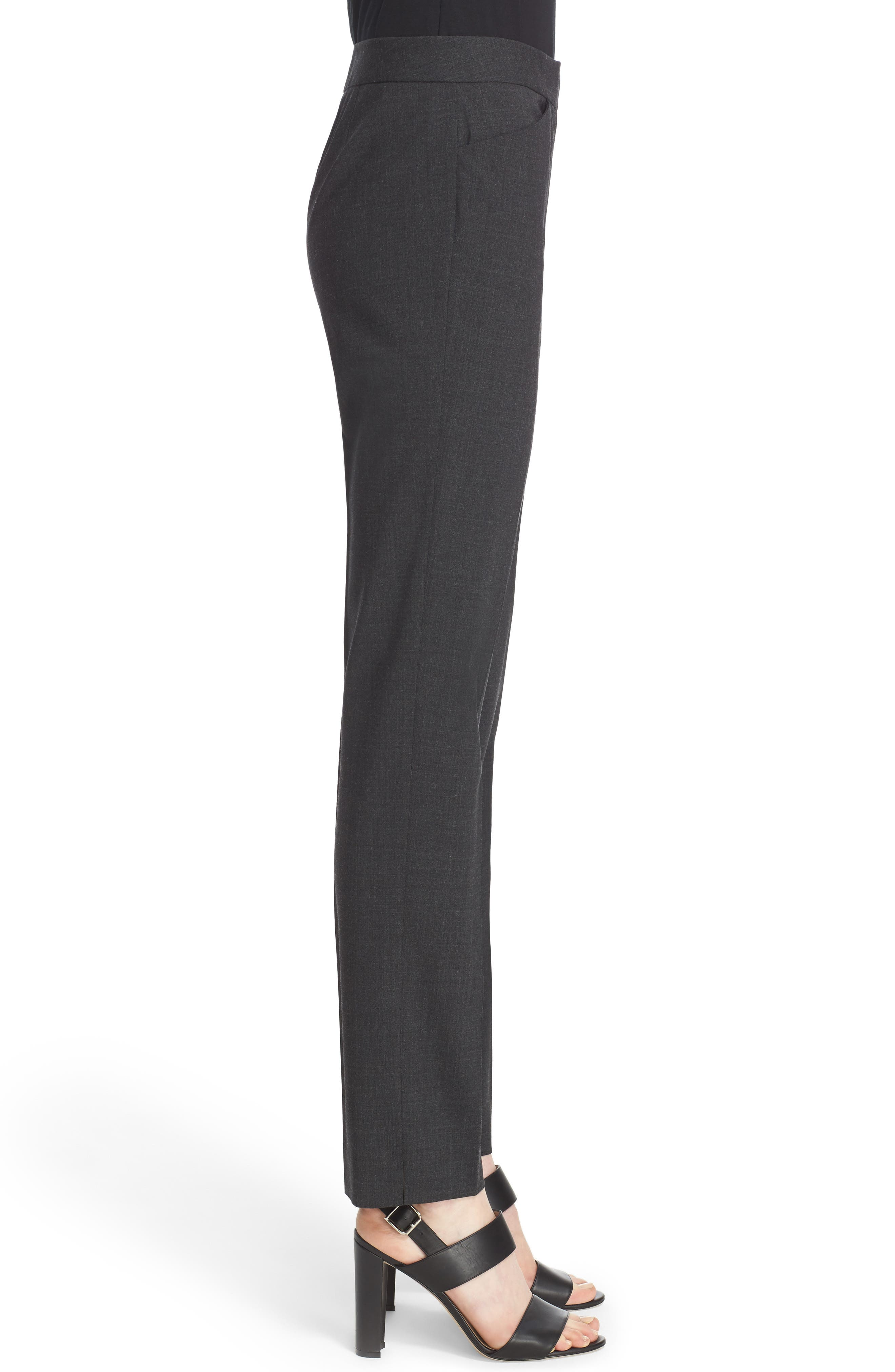 Alternate Image 5  - Lafayette 148 New York Irving Stretch Wool Pants (Nordstrom Exclusive)