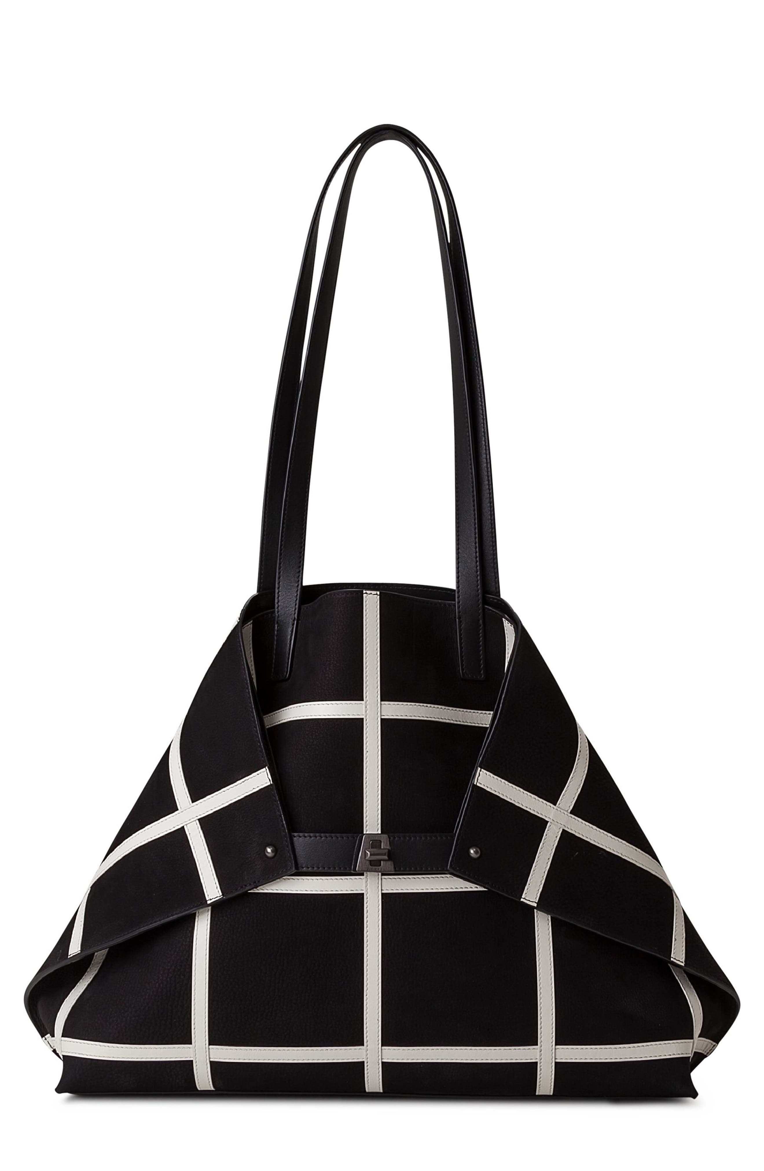Akris Medium AI Reversible Leather Tote