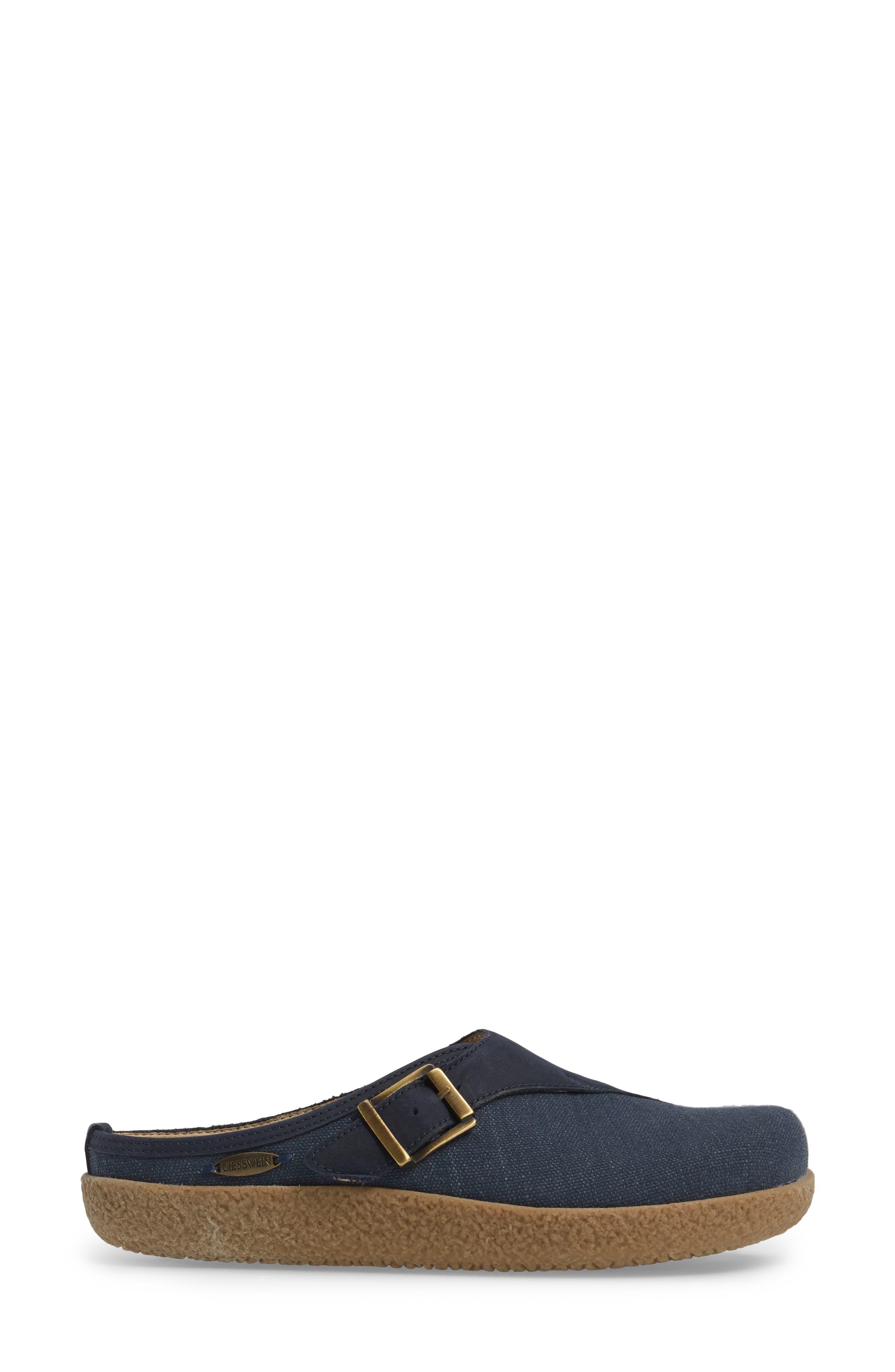 Radler Slipper Mule,                             Alternate thumbnail 3, color,                             Jeans Leather