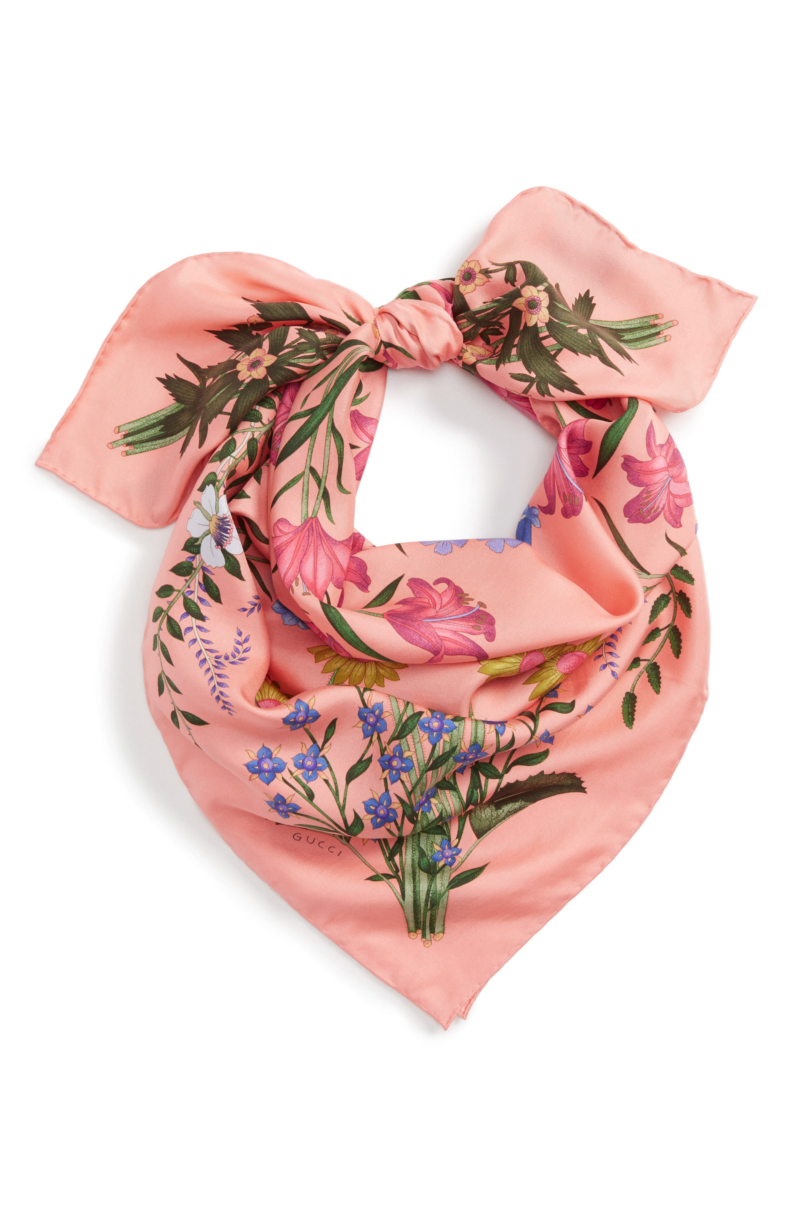 Alternate Image 2  - Gucci New Flora Foulard Scarf