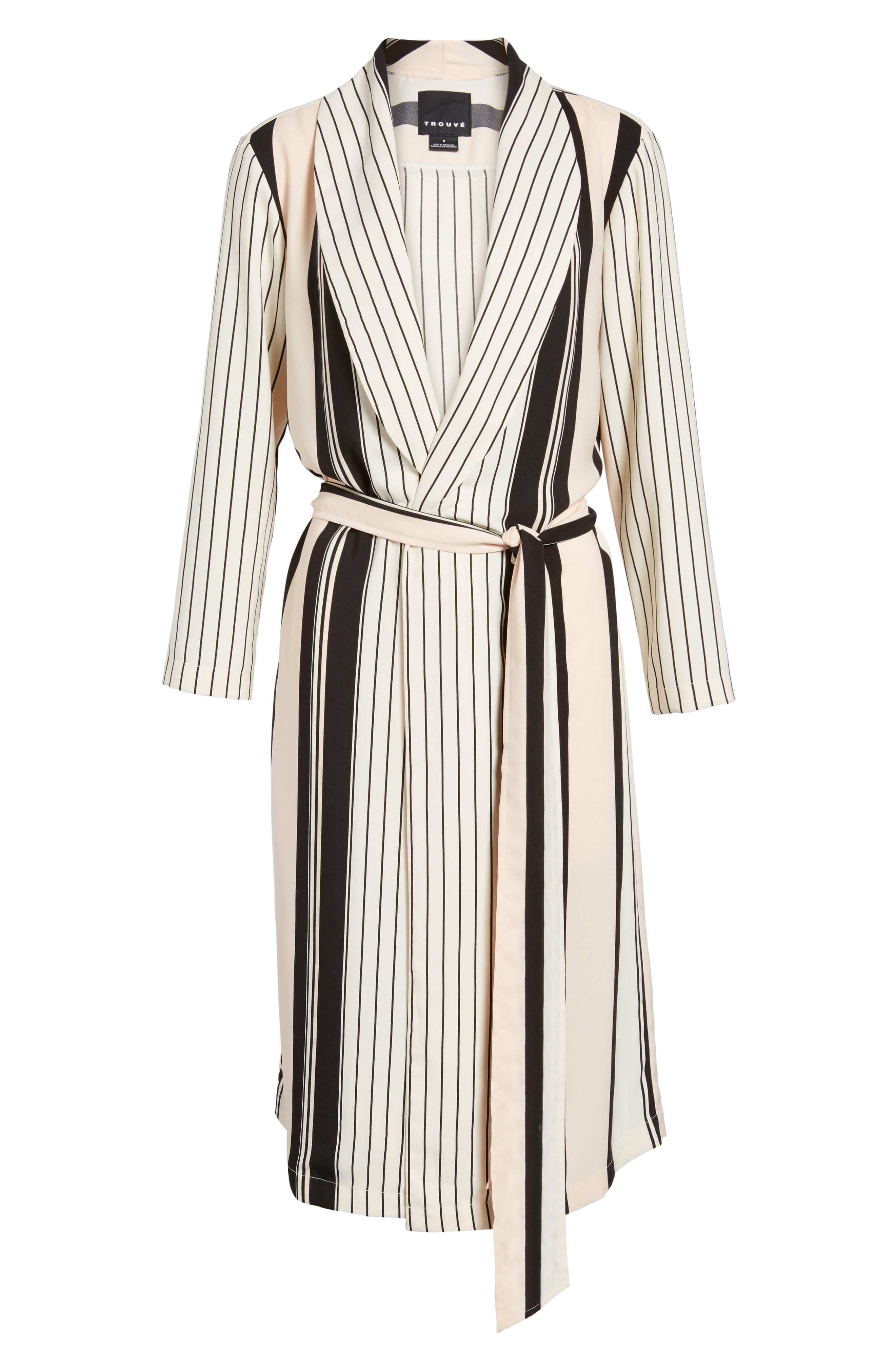 Alternate Image 6  - Trouvé Stripe Longline Jacket