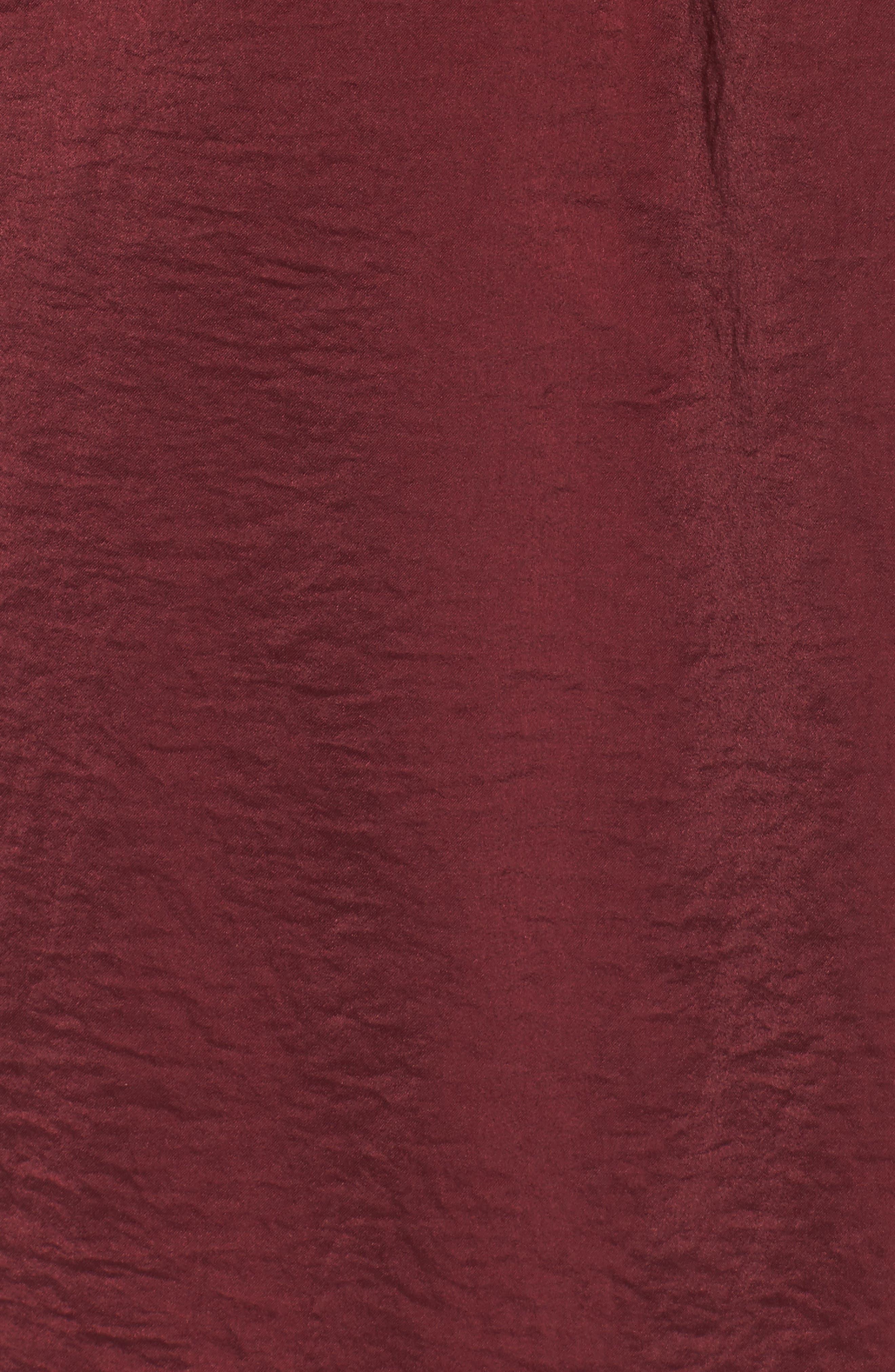 As You Wish Tie Waist Dress,                             Alternate thumbnail 5, color,                             Wine