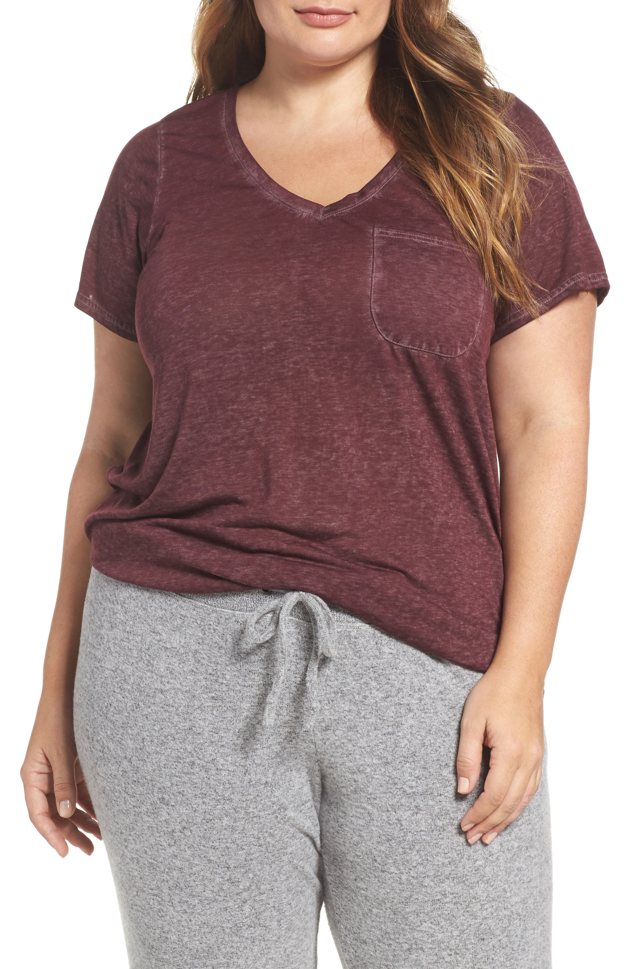 Make + Model 'Gotta Have It' V-Neck Tee (Plus Size) (2 for $45)