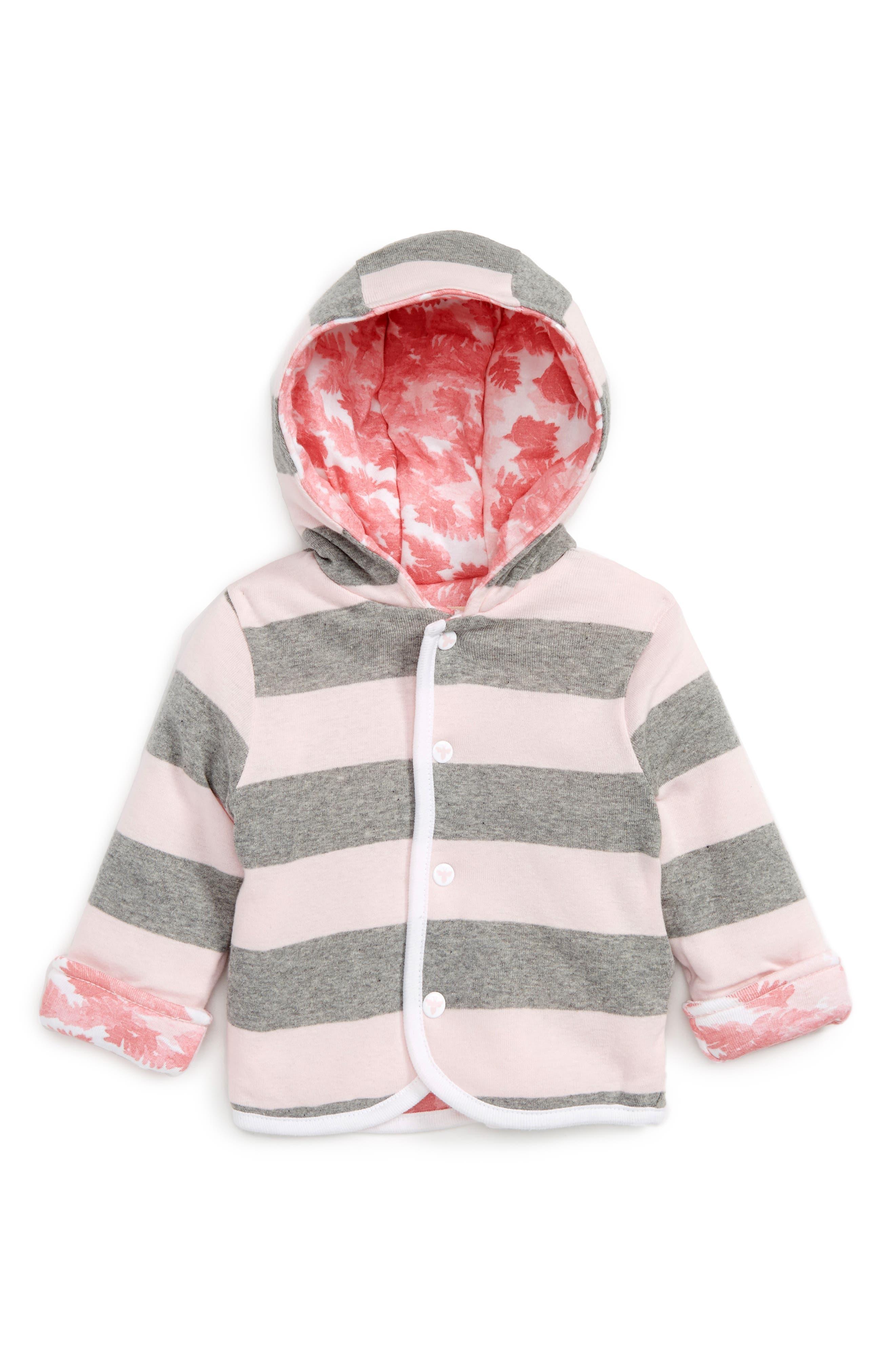 Burt's Bees Baby Organic Cotton Reversible Hooded Jacket (Baby Girls)