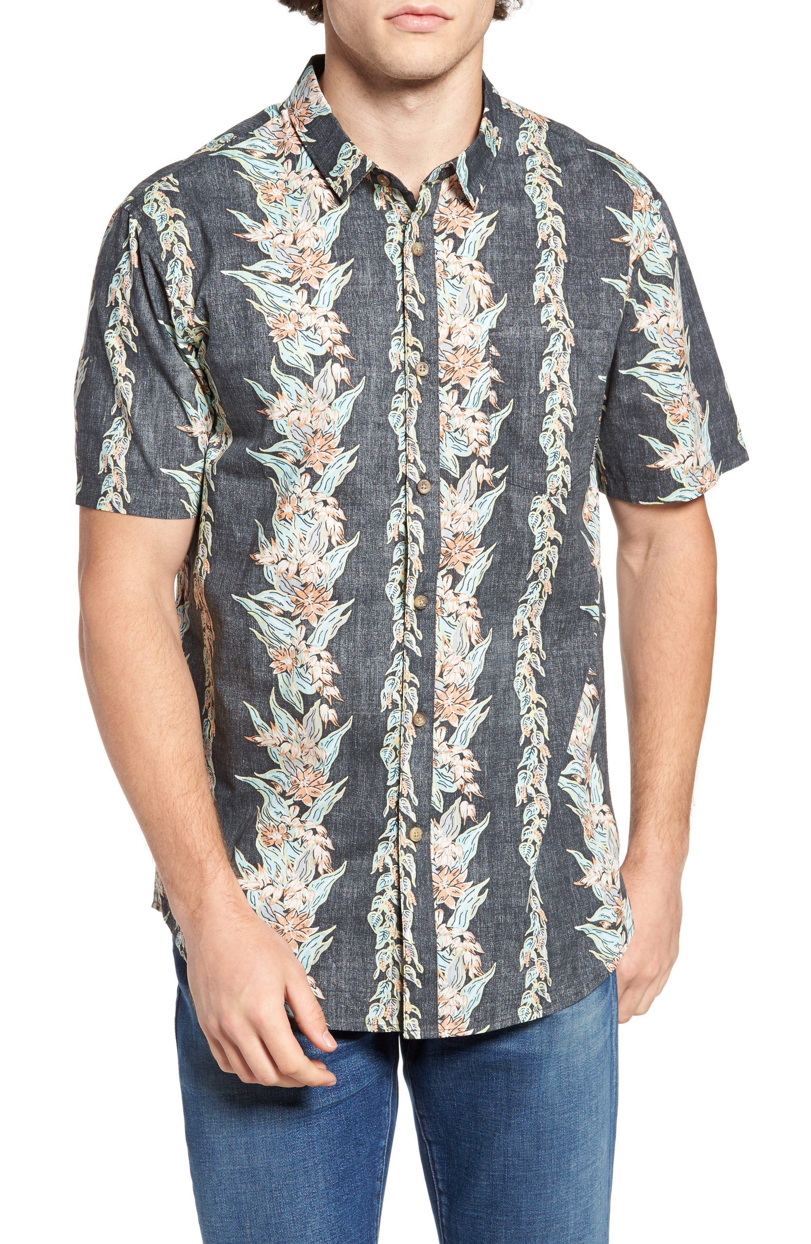 Sundays Floral Woven Shirt,                             Main thumbnail 1, color,                             Black