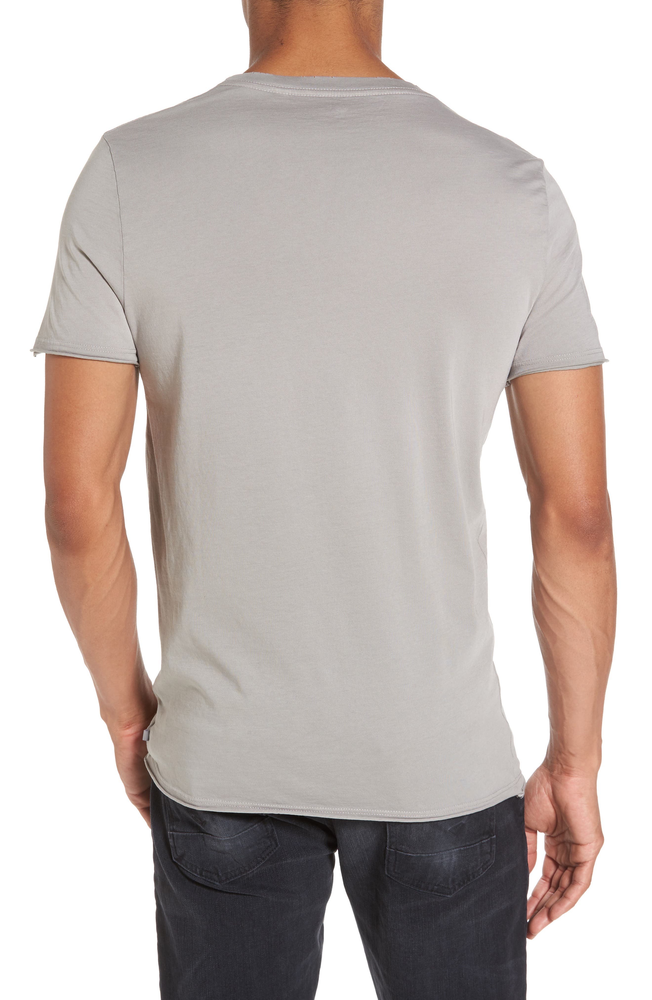 Anders Slim Fit Pocket T-Shirt,                             Alternate thumbnail 2, color,                             Sun Faded Grey Haze
