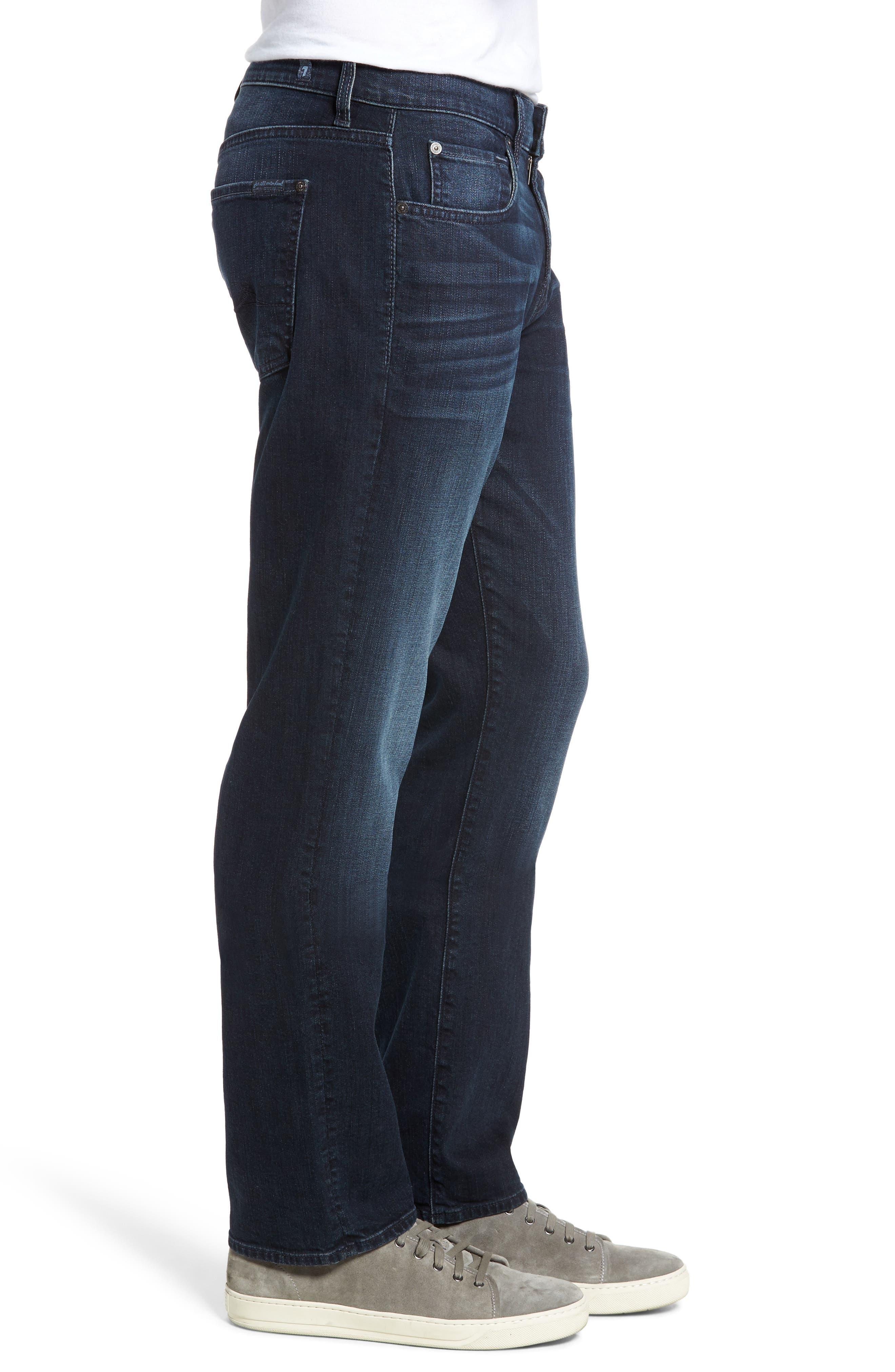 Alternate Image 3  - 7 For All Mankind® The Straight Slim Straight Leg Jeans (Dark Current)