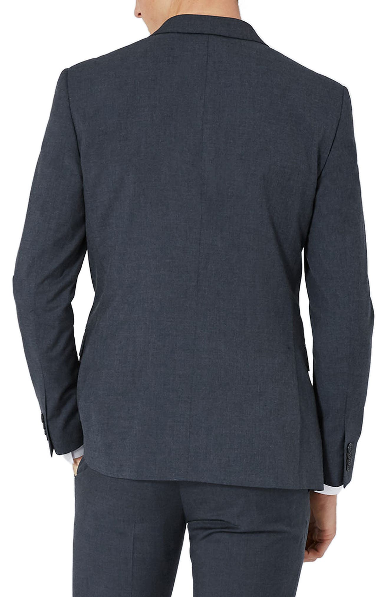 Alternate Image 3  - Topman Skinny Fit Double Breasted Suit Jacket