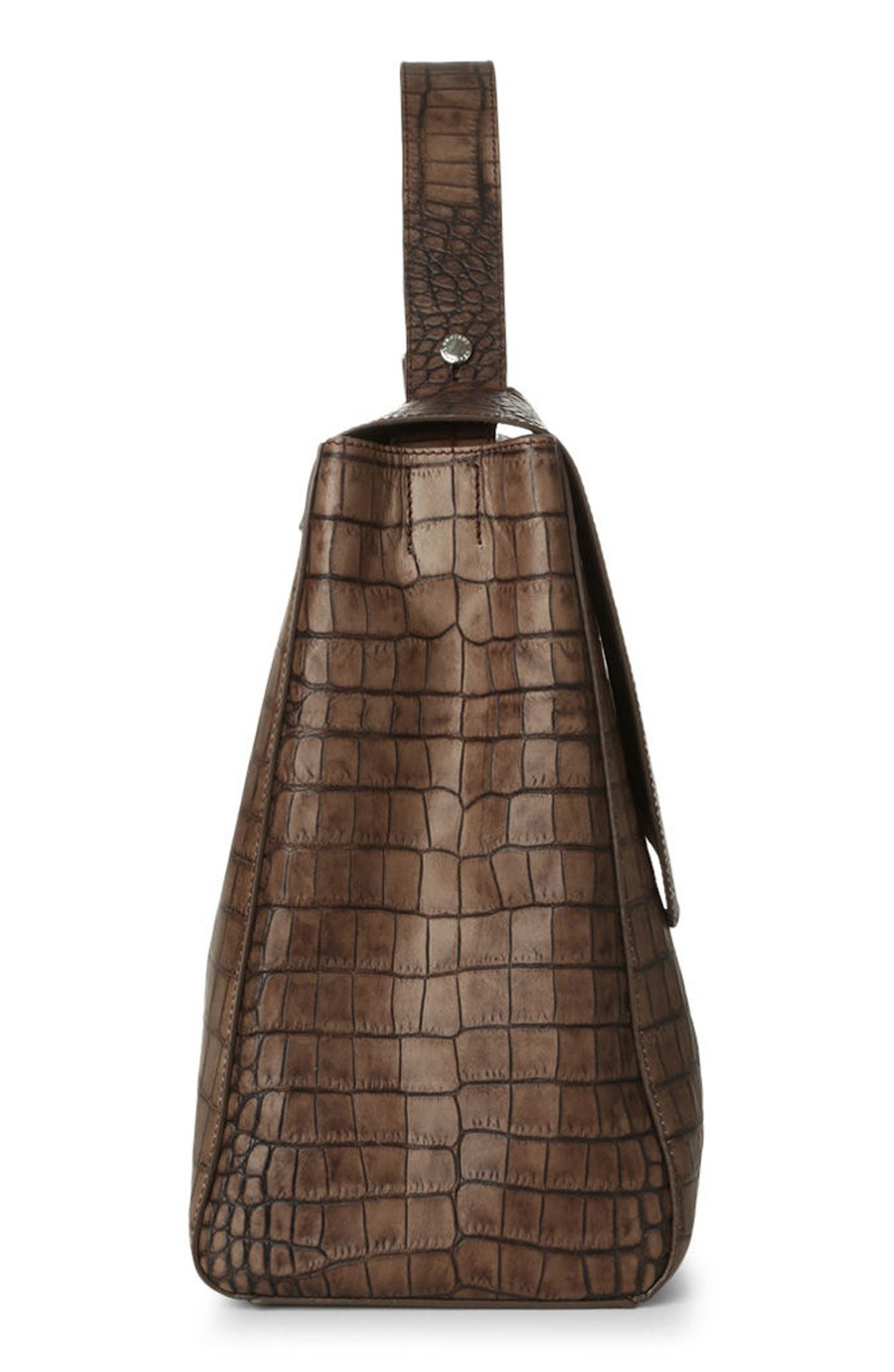 Alternate Image 4  - Orciani Large Sveva Croc Embossed Calfskin Leather Convertible Satchel