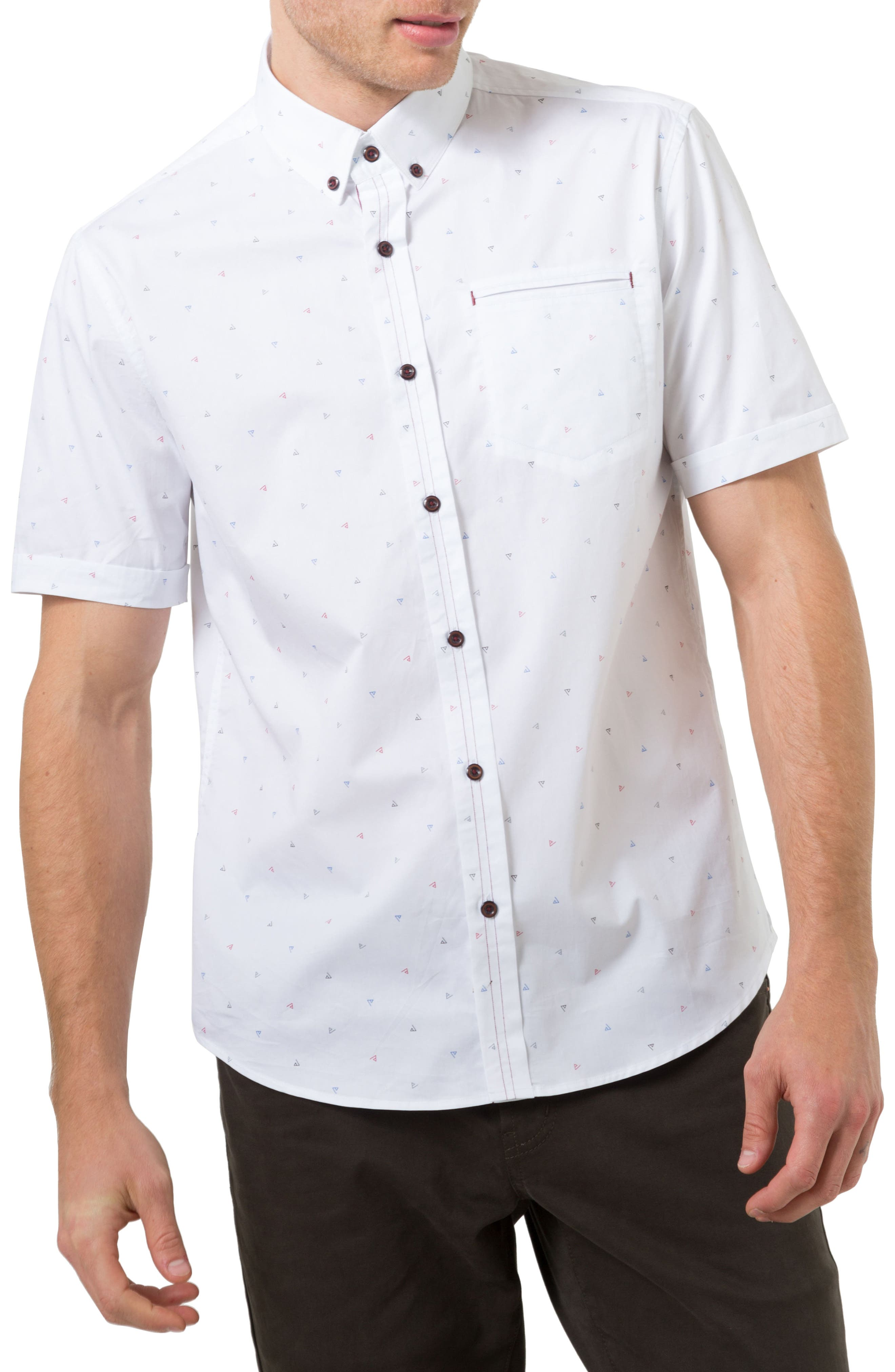 7 Diamonds Wonderwall Print Woven Shirt