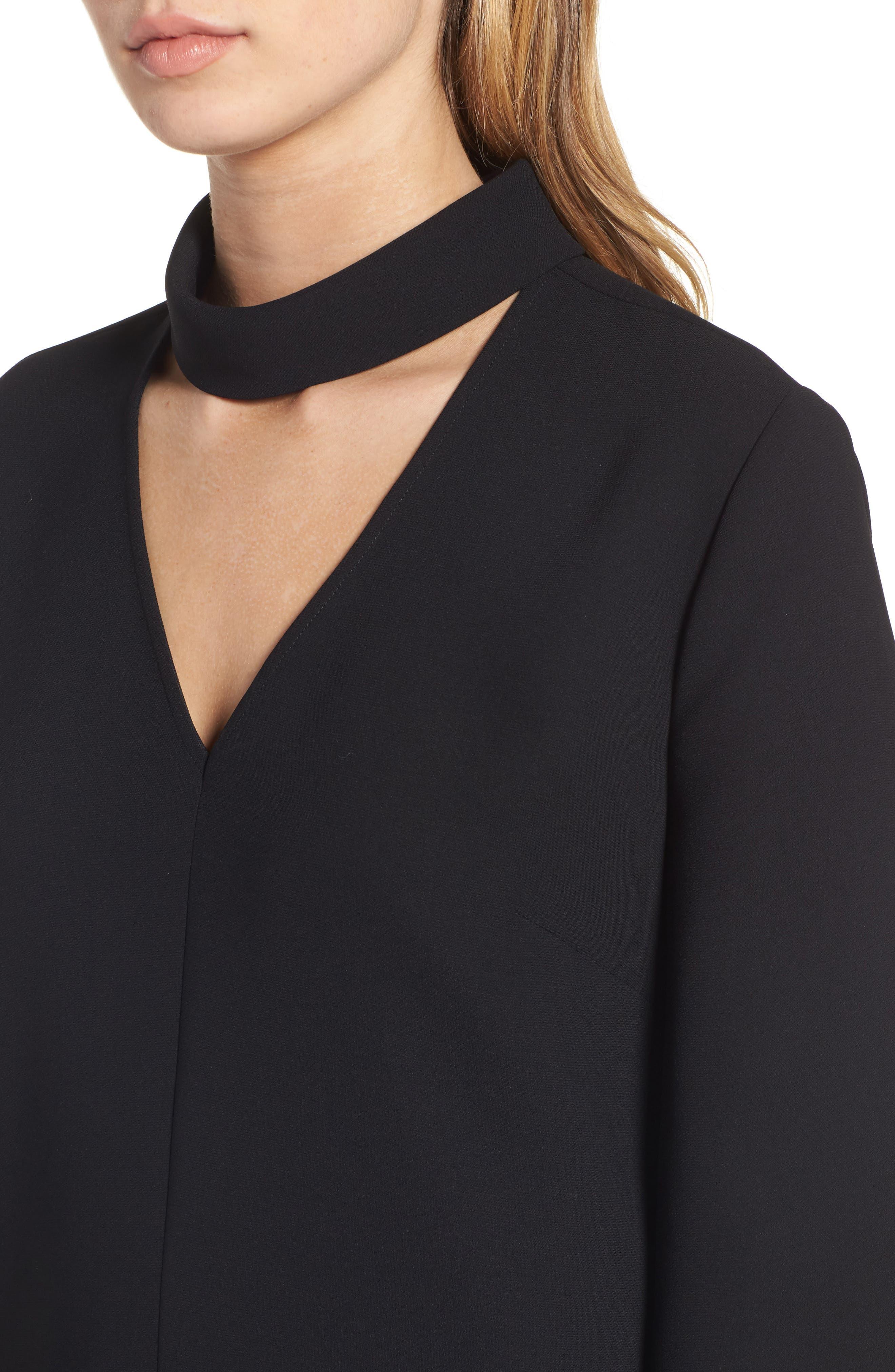 Alternate Image 4  - Trouvé Choker Bell Sleeve Dress