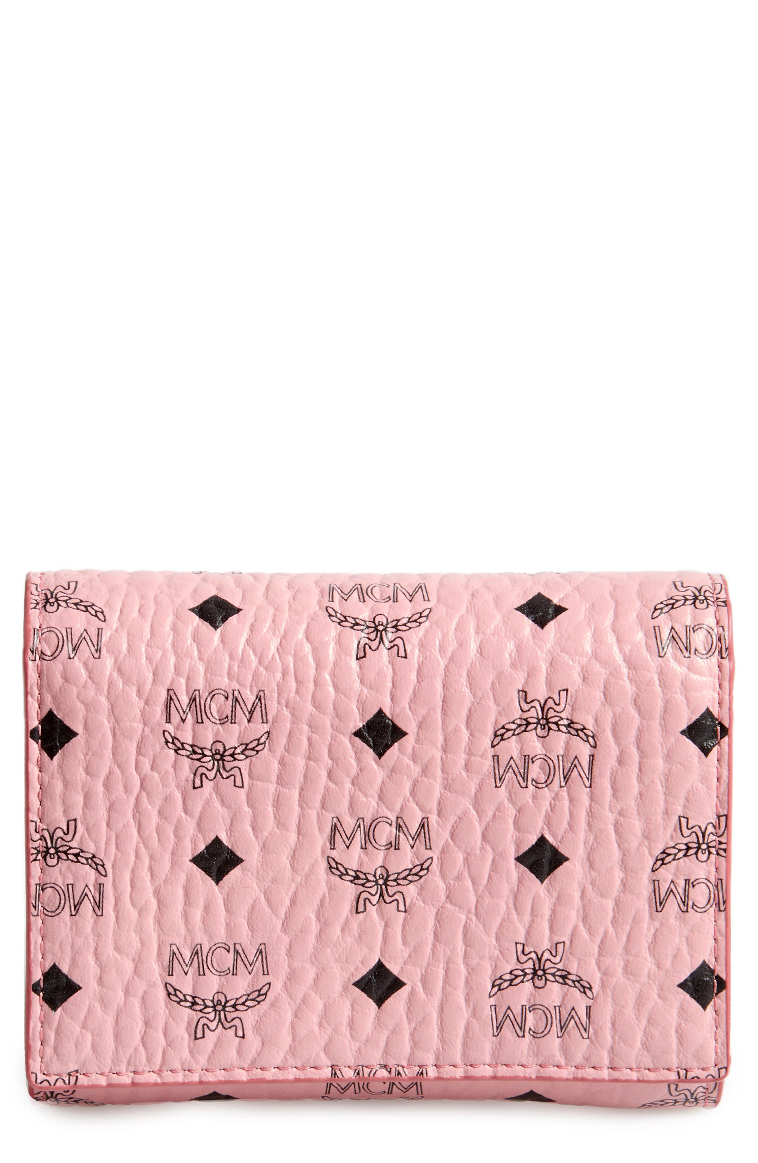 MCM Color Visetos Trifold Wallet