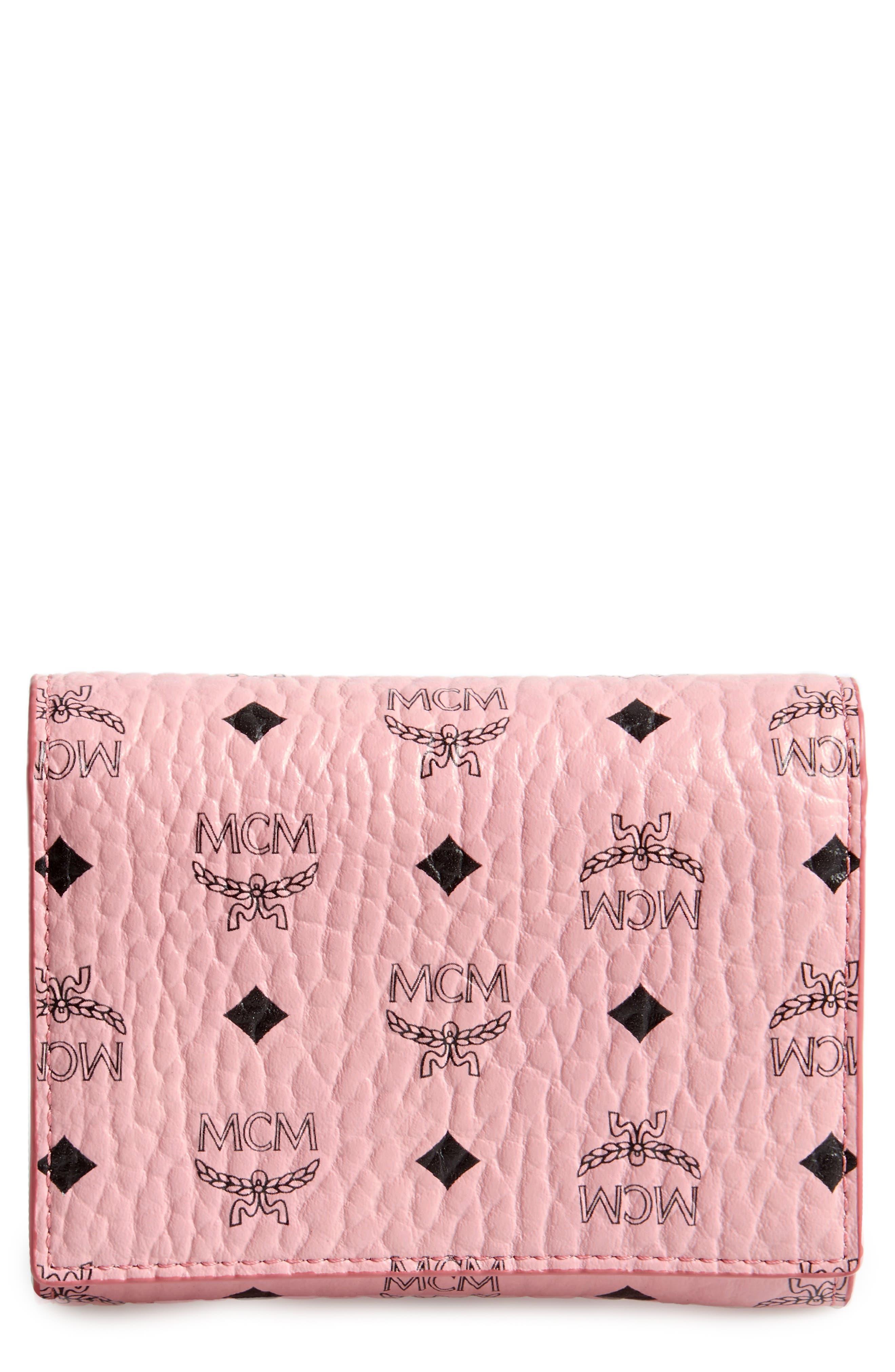 MCM Color Visetos Trifold Wallet