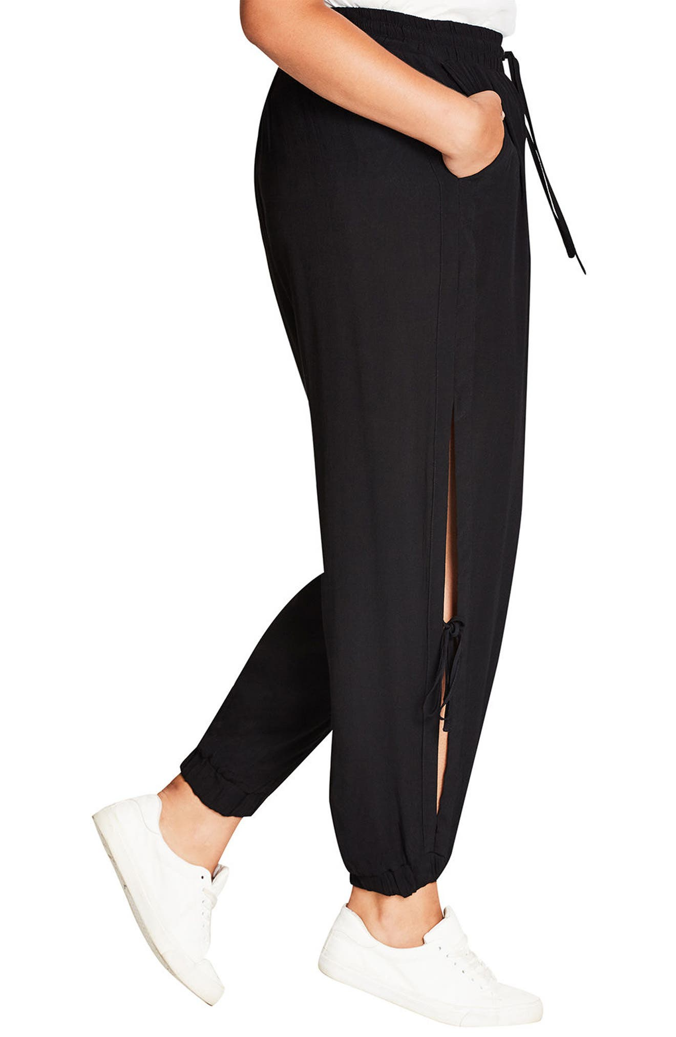 Alternate Image 3  - City Chic Side Tie Jogger Pants (Plus Size)