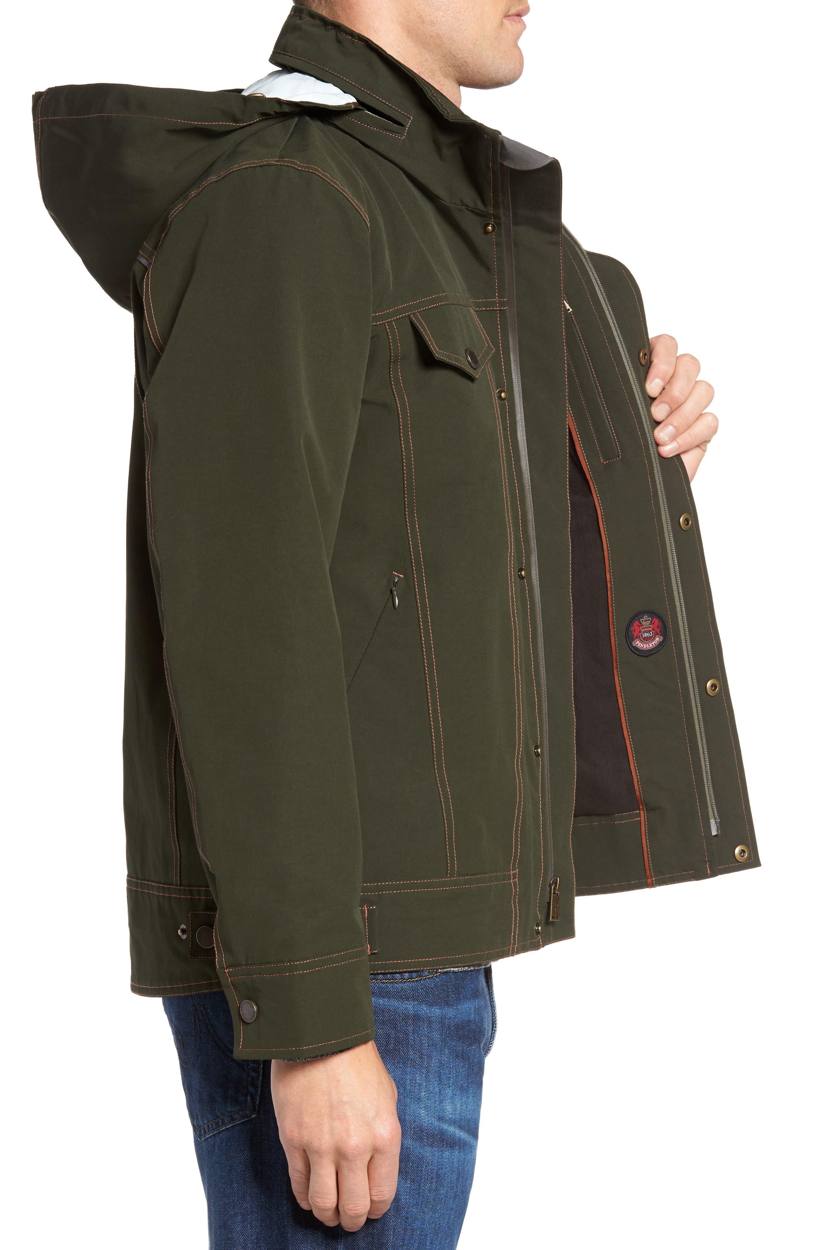 Forks Waterproof Jacket,                             Alternate thumbnail 3, color,                             Rosin