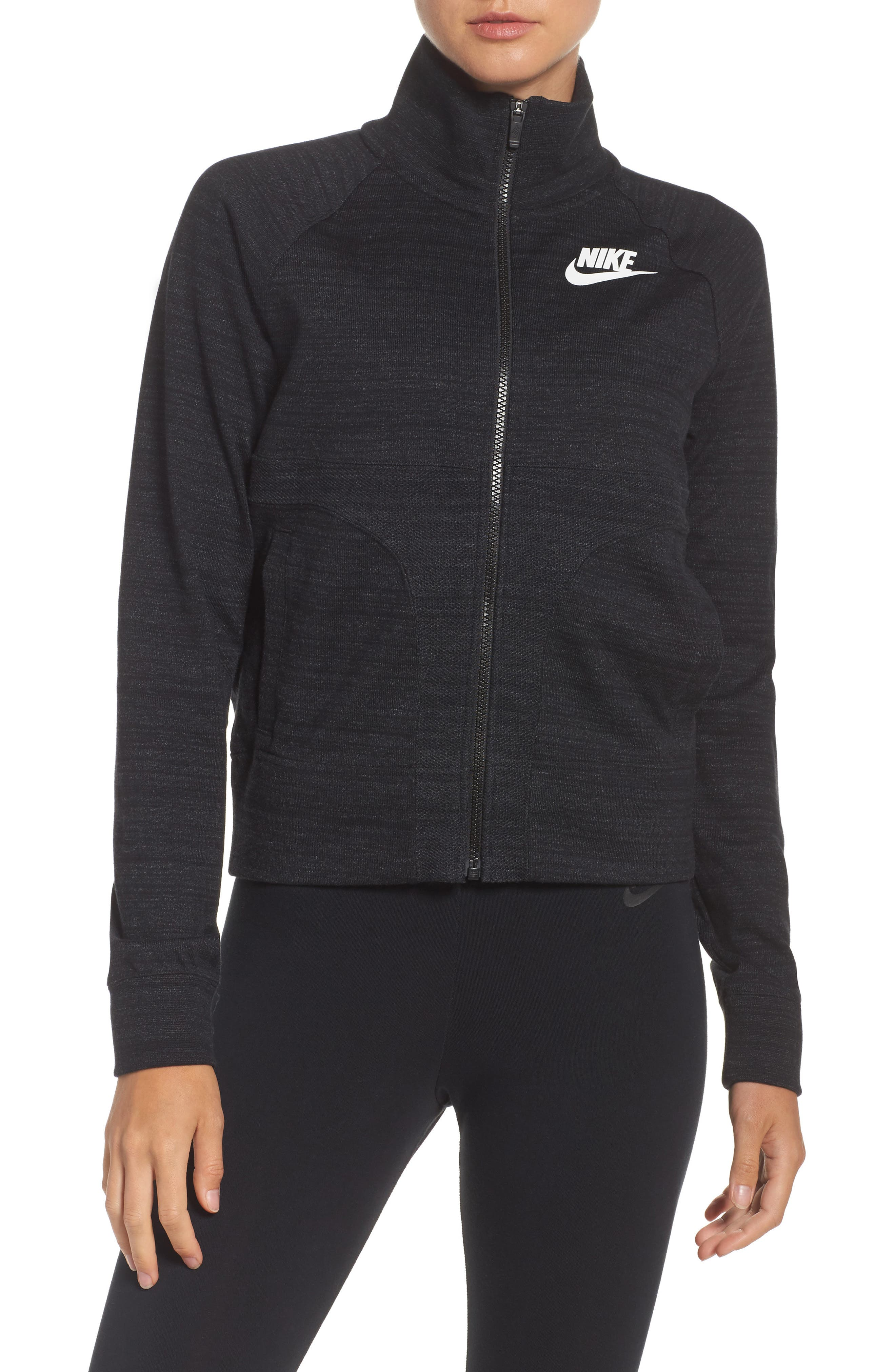 Sportswear Advance 15 Track Jacket,                         Main,                         color, Black/ White