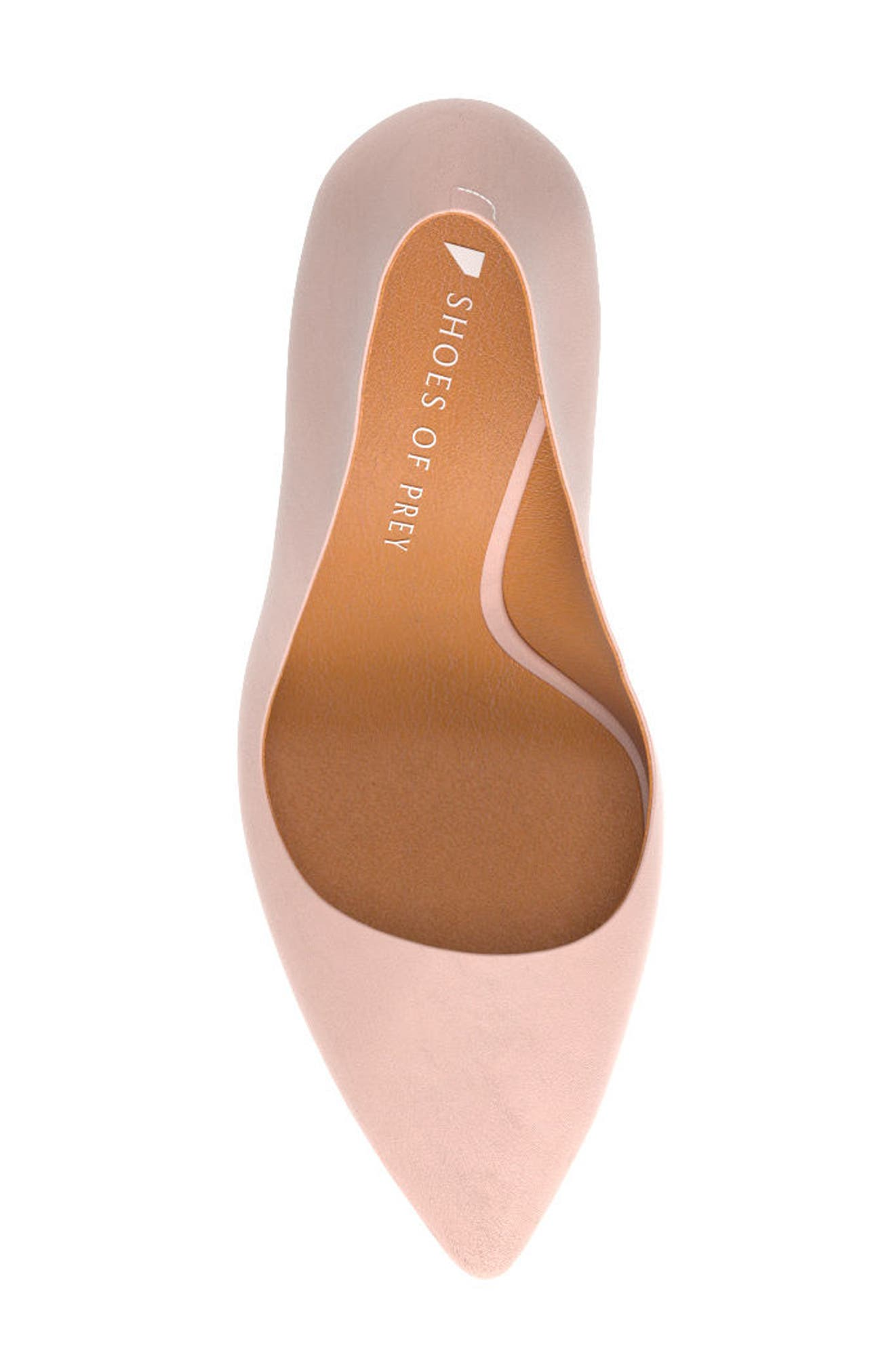 Pointy Toe Pump,                             Alternate thumbnail 6, color,                             Blush Nude Leather
