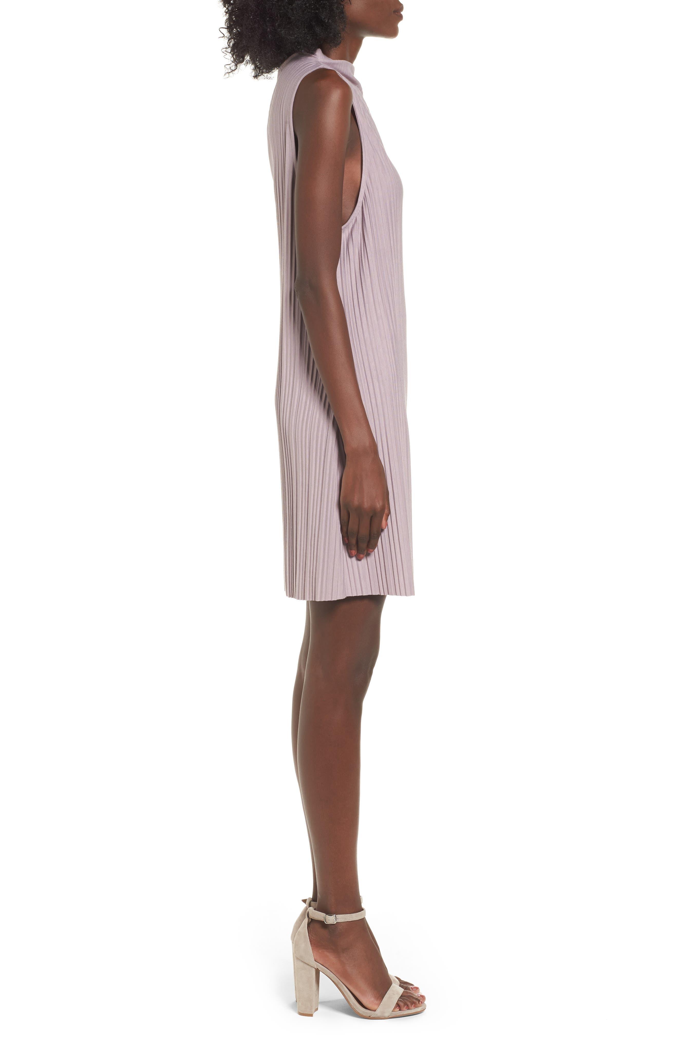 Alternate Image 3  - Leith Plissé Pleat Shift Dress