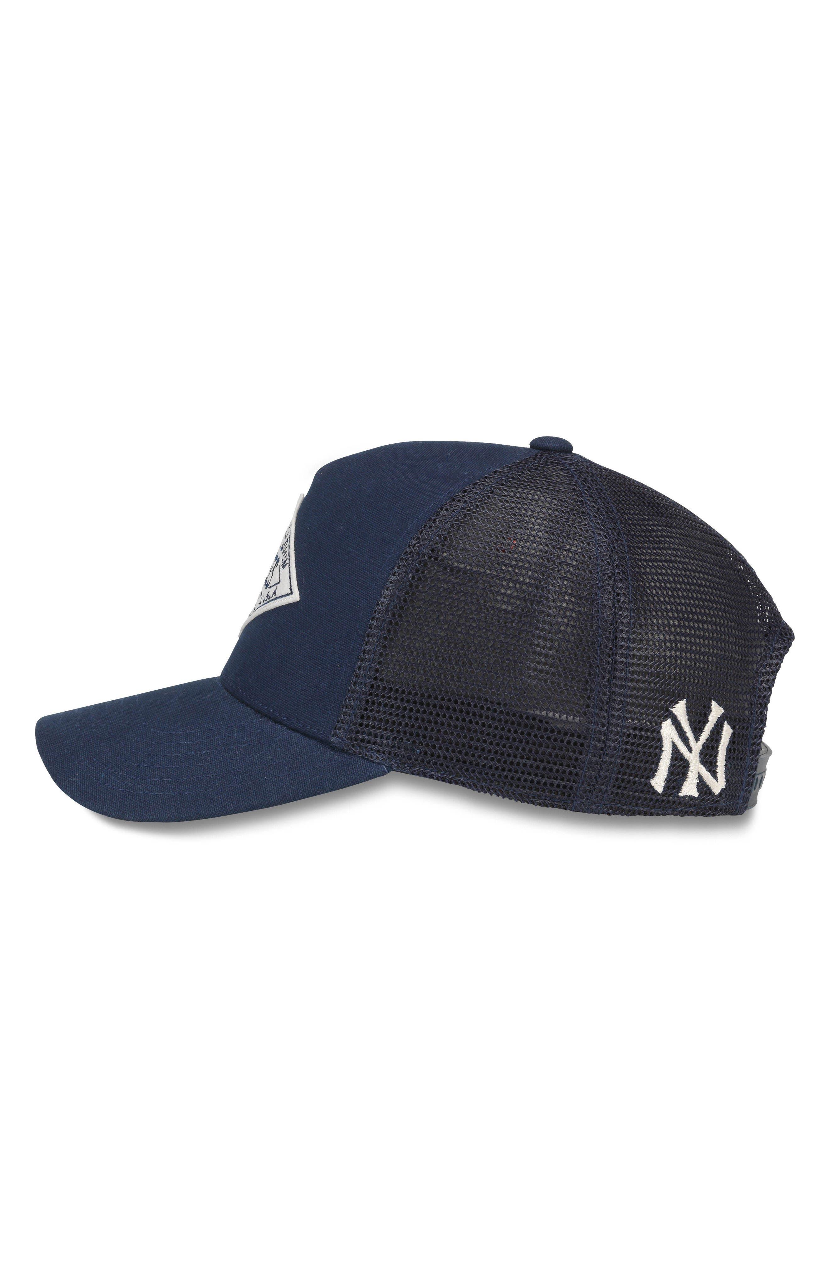 Valin MLB Trucker Hat,                             Alternate thumbnail 2, color,                             Yankees