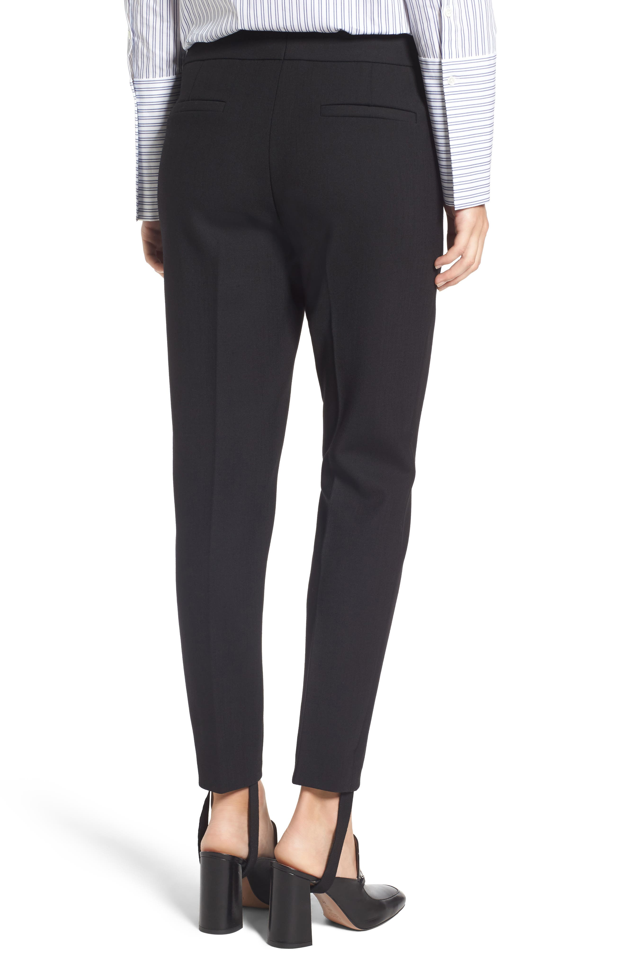 Removable Stirrup Pants,                             Alternate thumbnail 3, color,                             Black