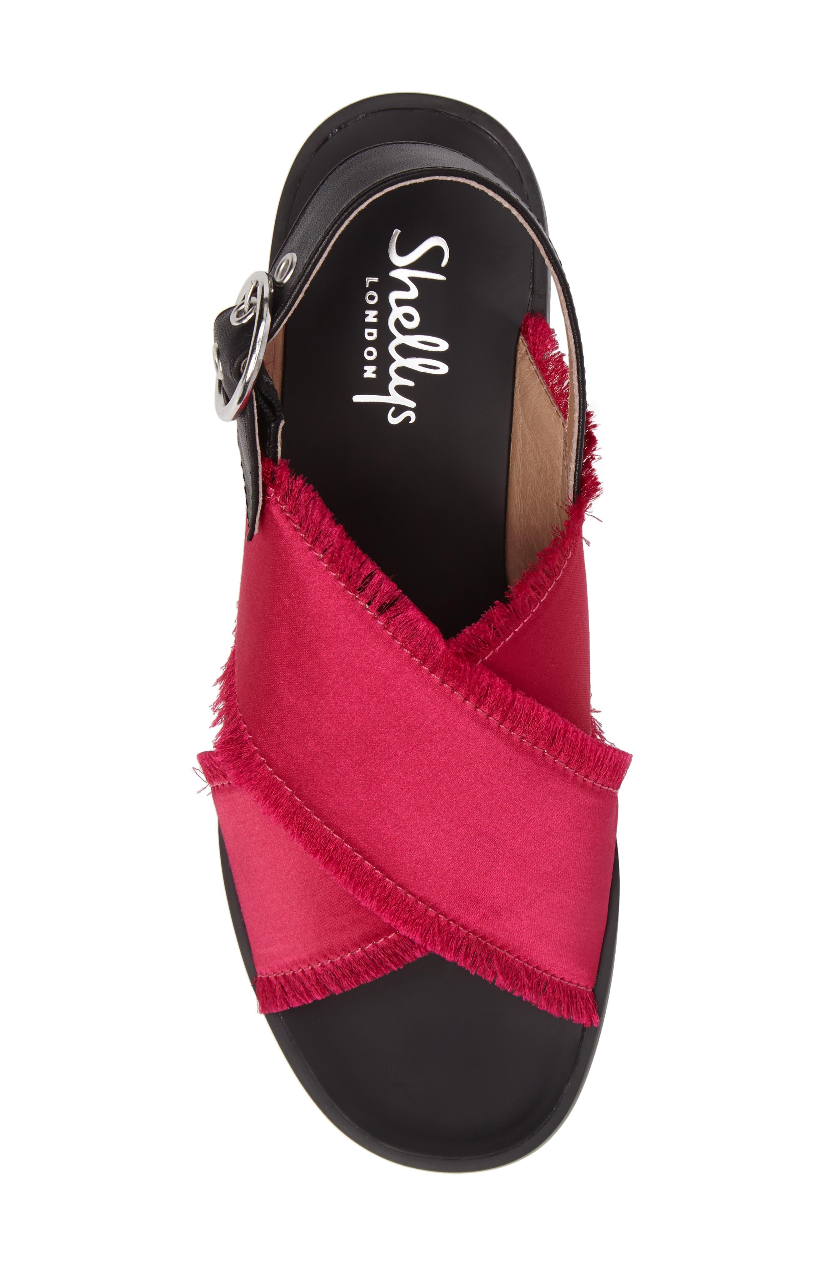 Alternate Image 5  - Shellys London Endy Fringed Cross Strap Sandal (Women)