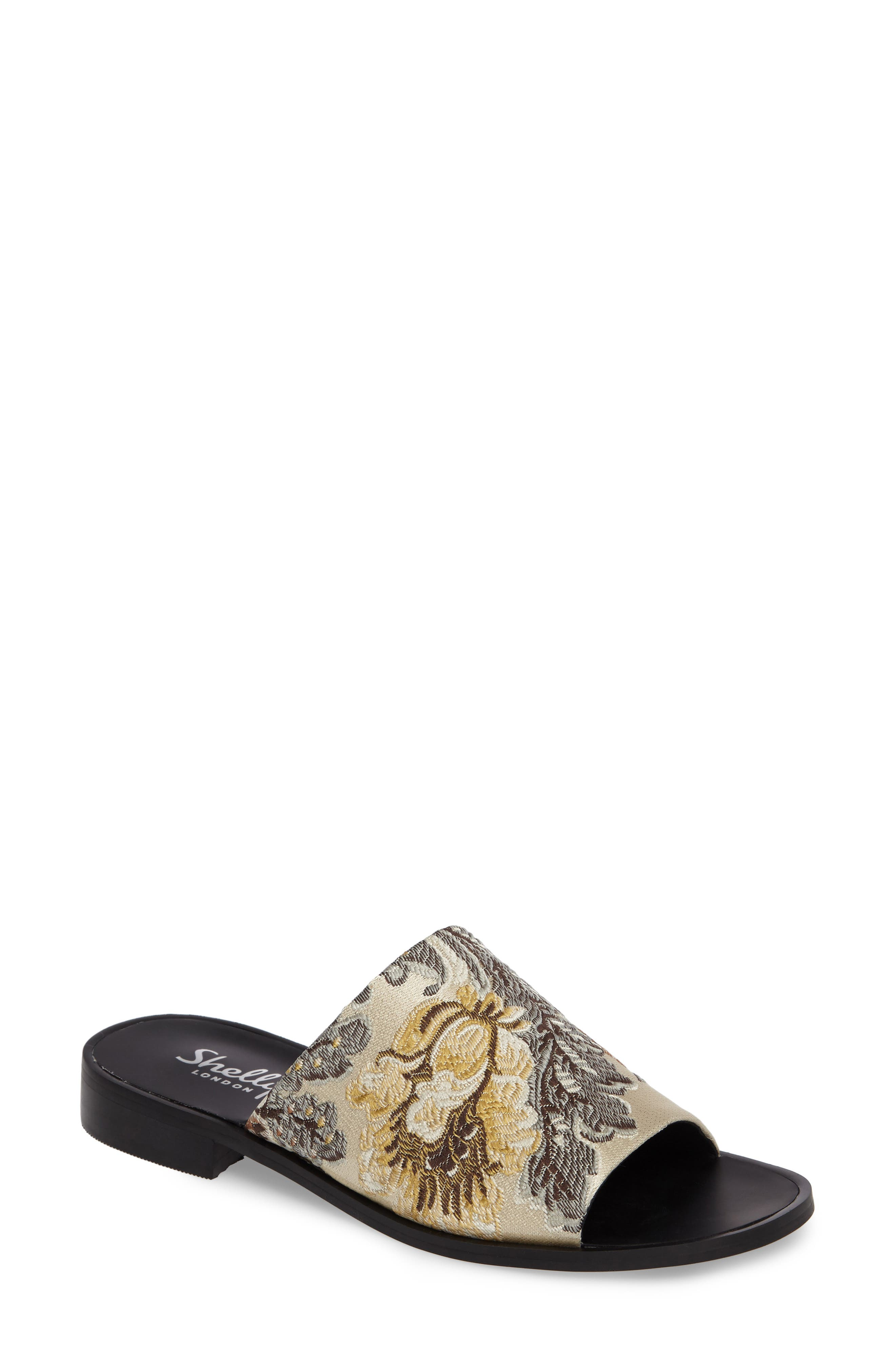 SHELLYS LONDON Enya Brocade Slide Sandal