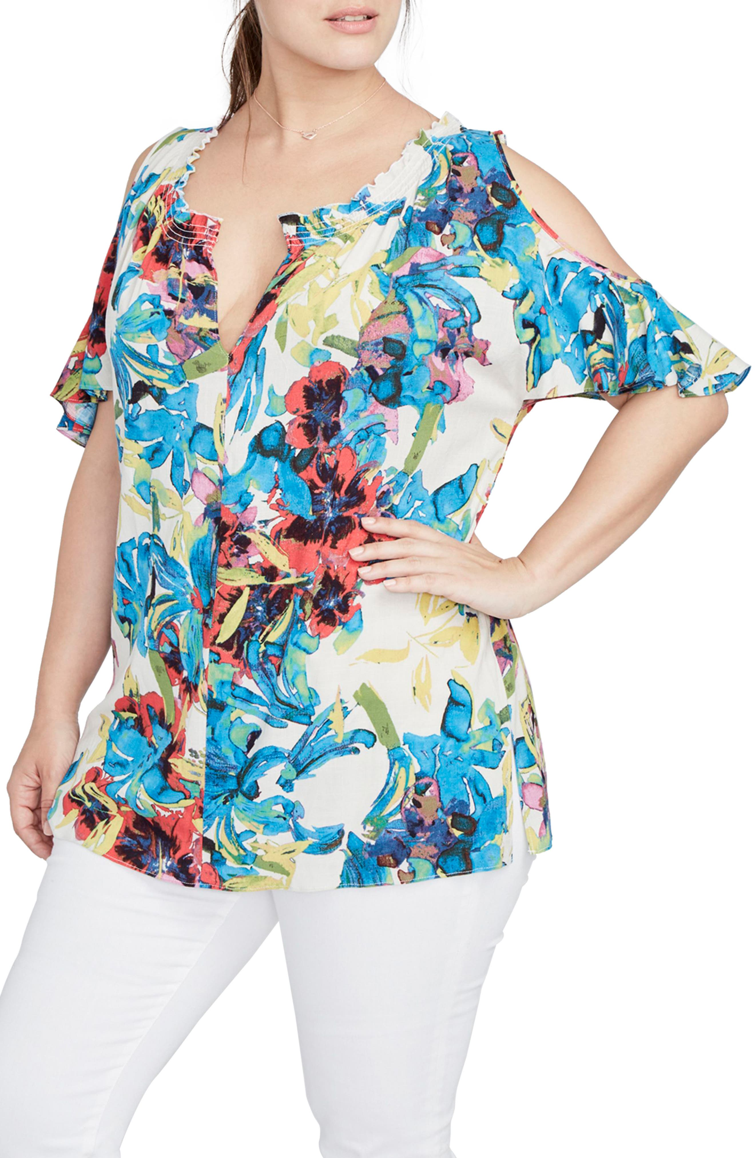 Alternate Image 3  - RACHEL Rachel Roy Vanessa Cold Shoulder Top (Plus Size)