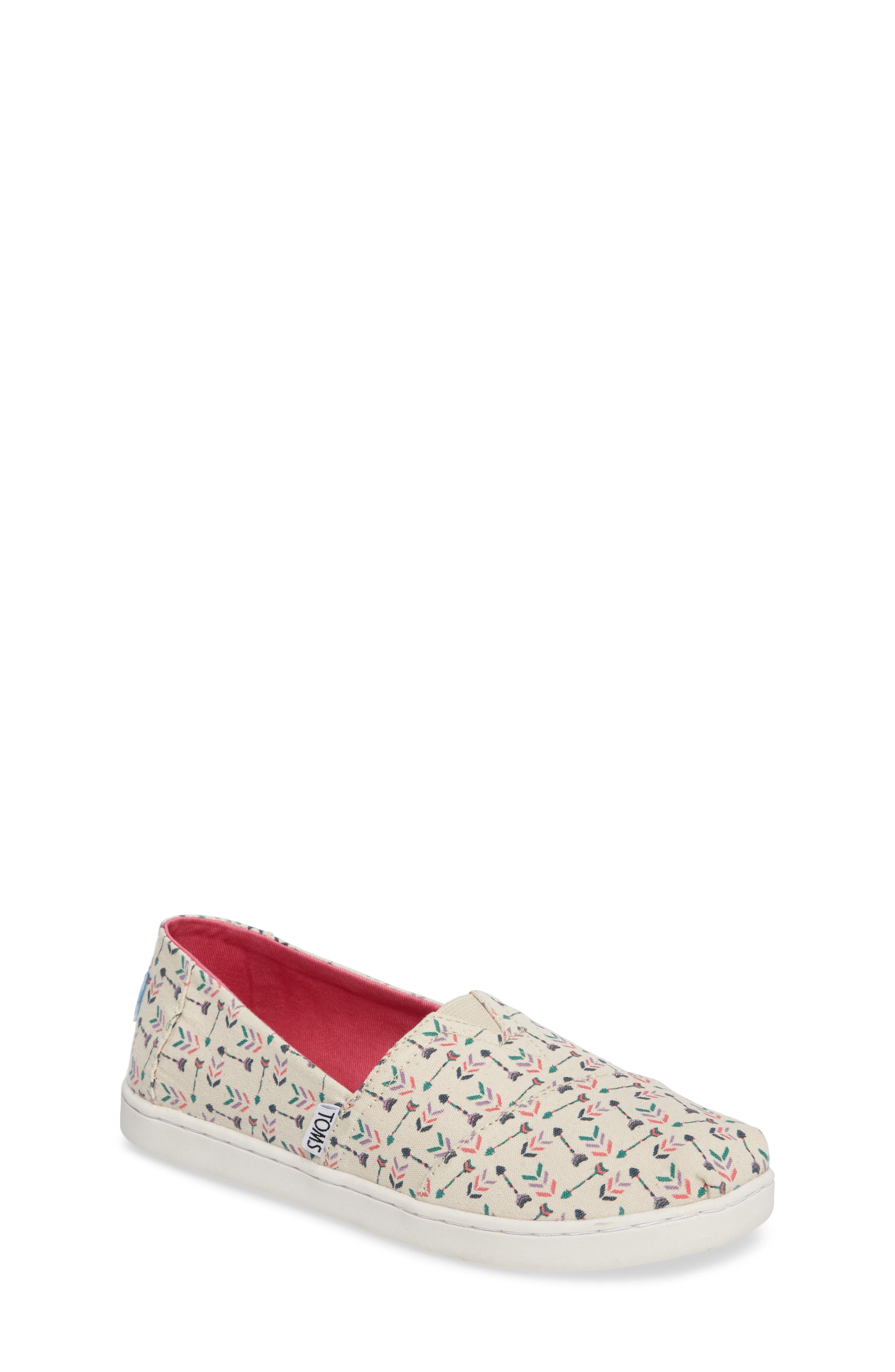 TOMS Classic Alpargata Arrow Print Slip-On (Toddler, Little Kid & Big Kid)