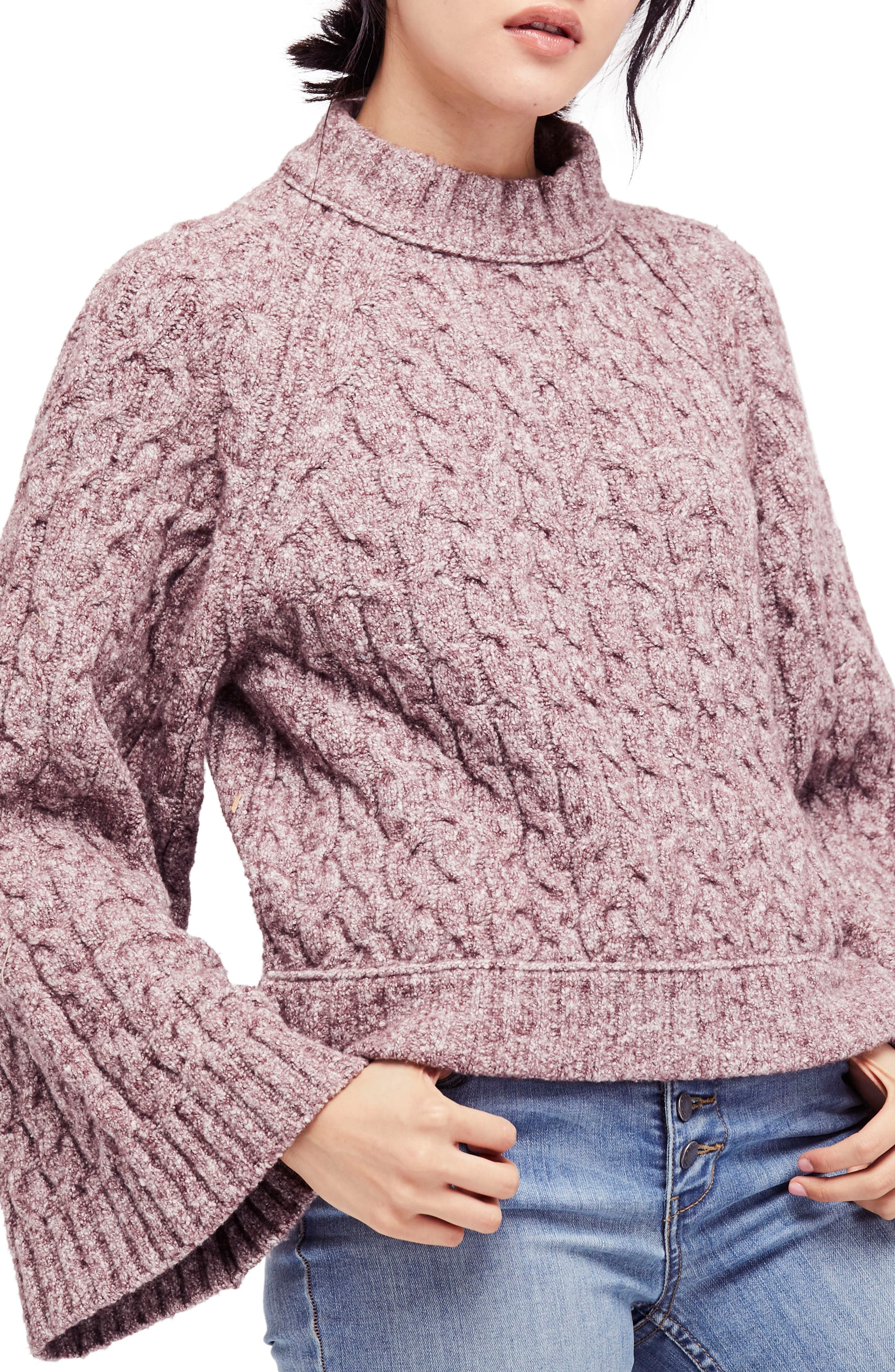 Main Image - Free People Snow Bird Cable Knit Sweater