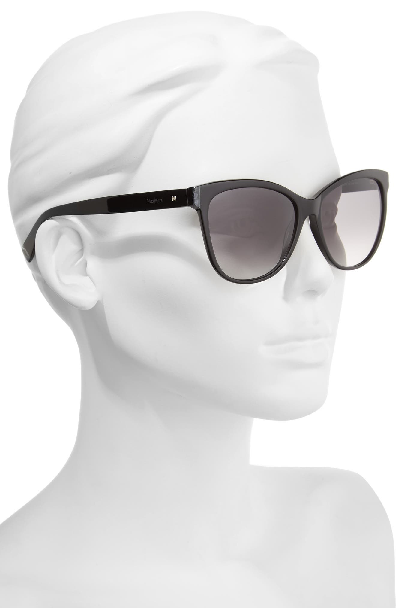 Thins 56mm Gradient Cat Eye Sunglasses,                             Alternate thumbnail 2, color,                             Black