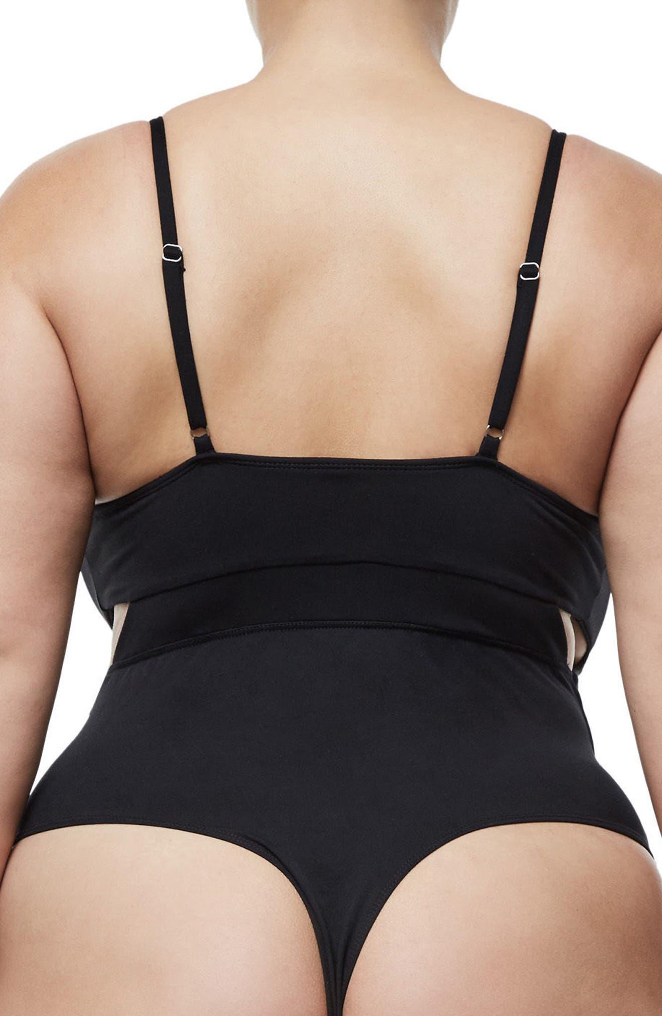 Alternate Image 4  - Good Body Cami Cutout Bodysuit (Regular & Plus Size)